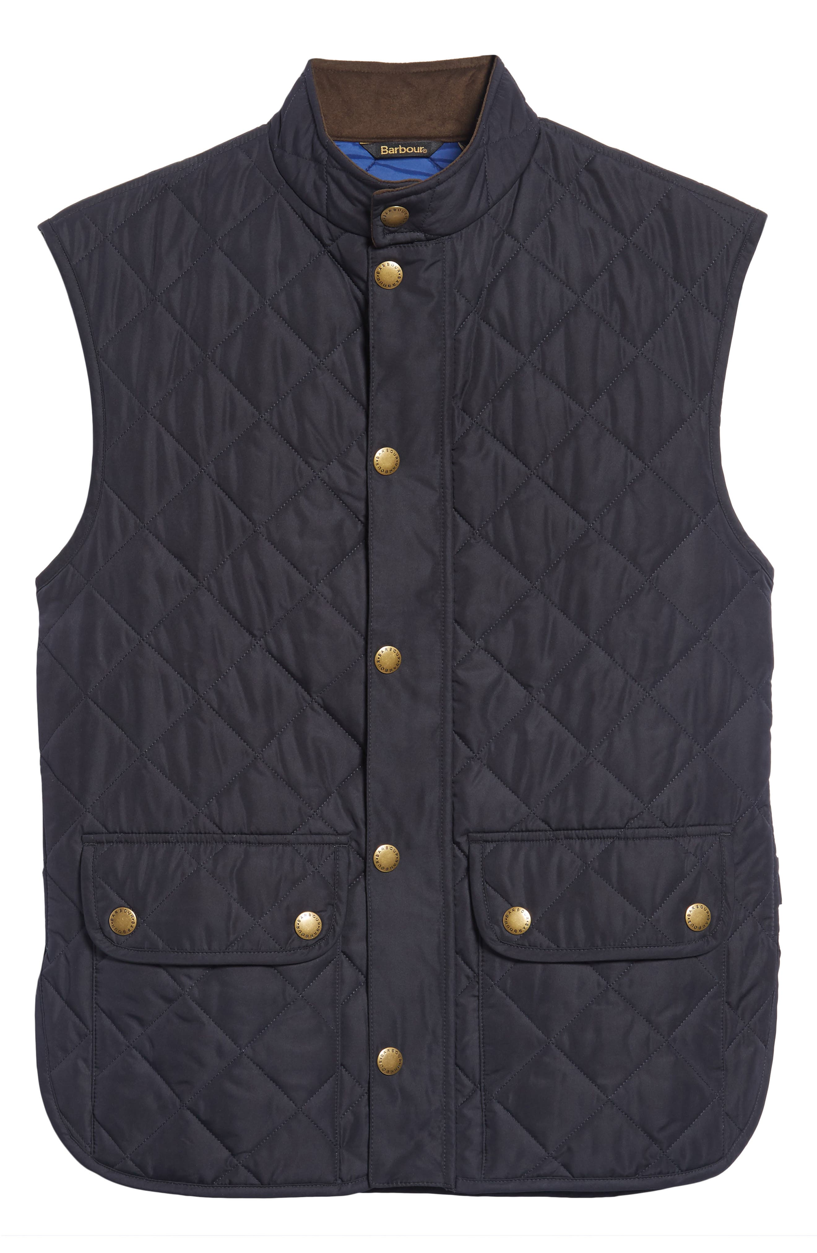 Lowerdale Quilted Vest,                             Main thumbnail 1, color,                             Navy/ Atlantic