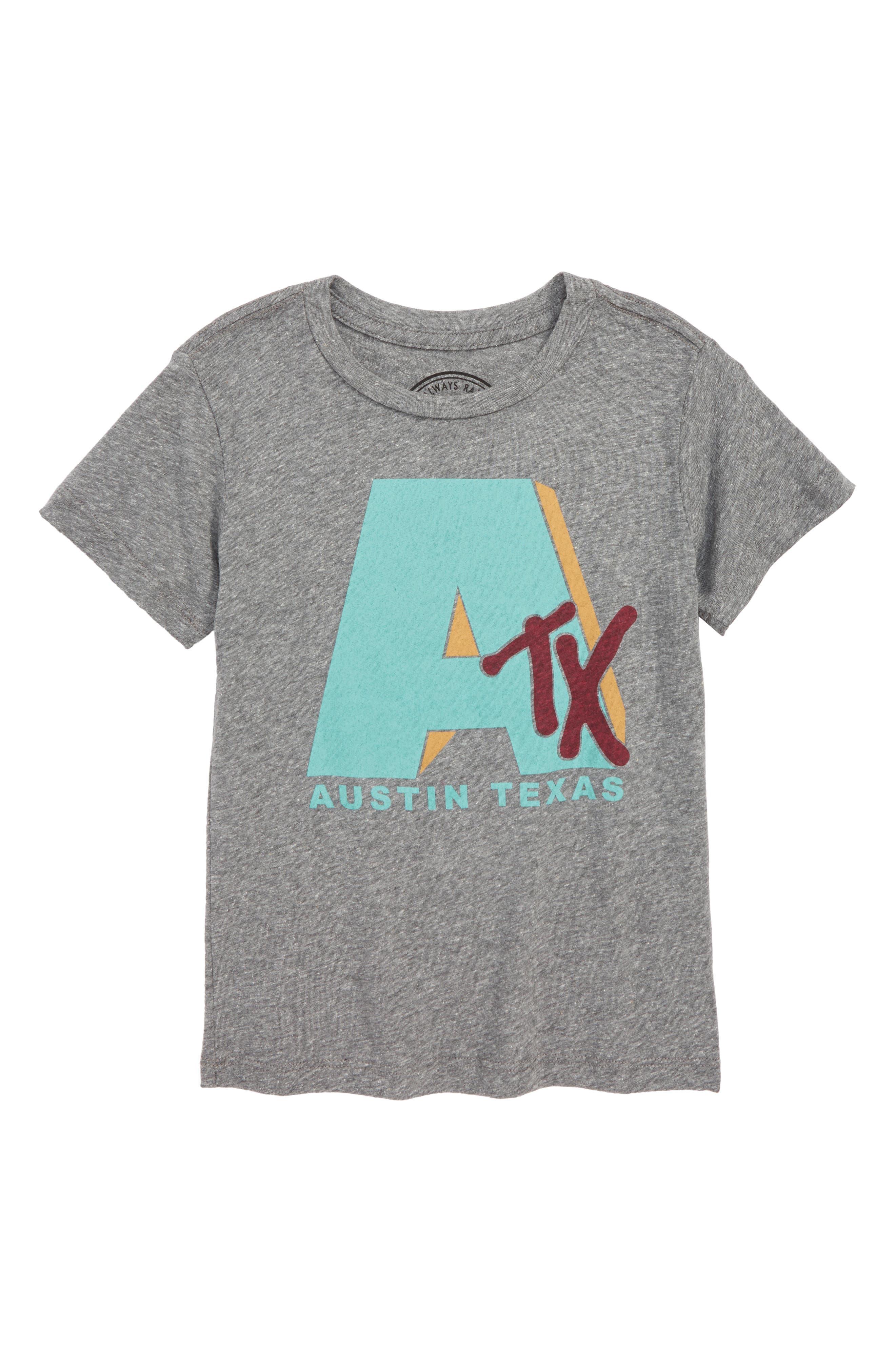 Austin Graphic T-Shirt,                         Main,                         color, Tri Grey