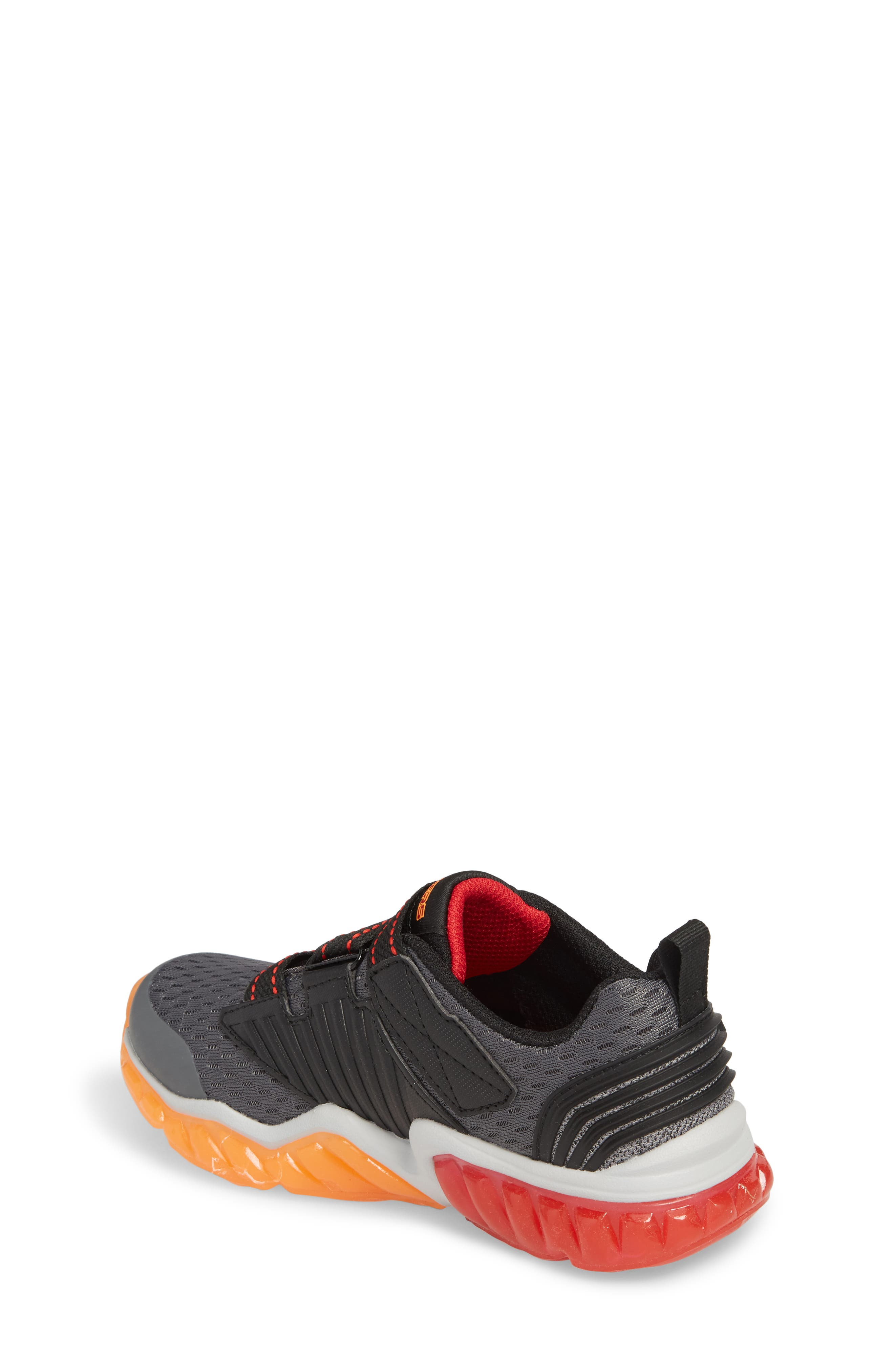 Rapid Flash Light-Up Sneaker,                             Alternate thumbnail 2, color,                             Charcoal/ Red