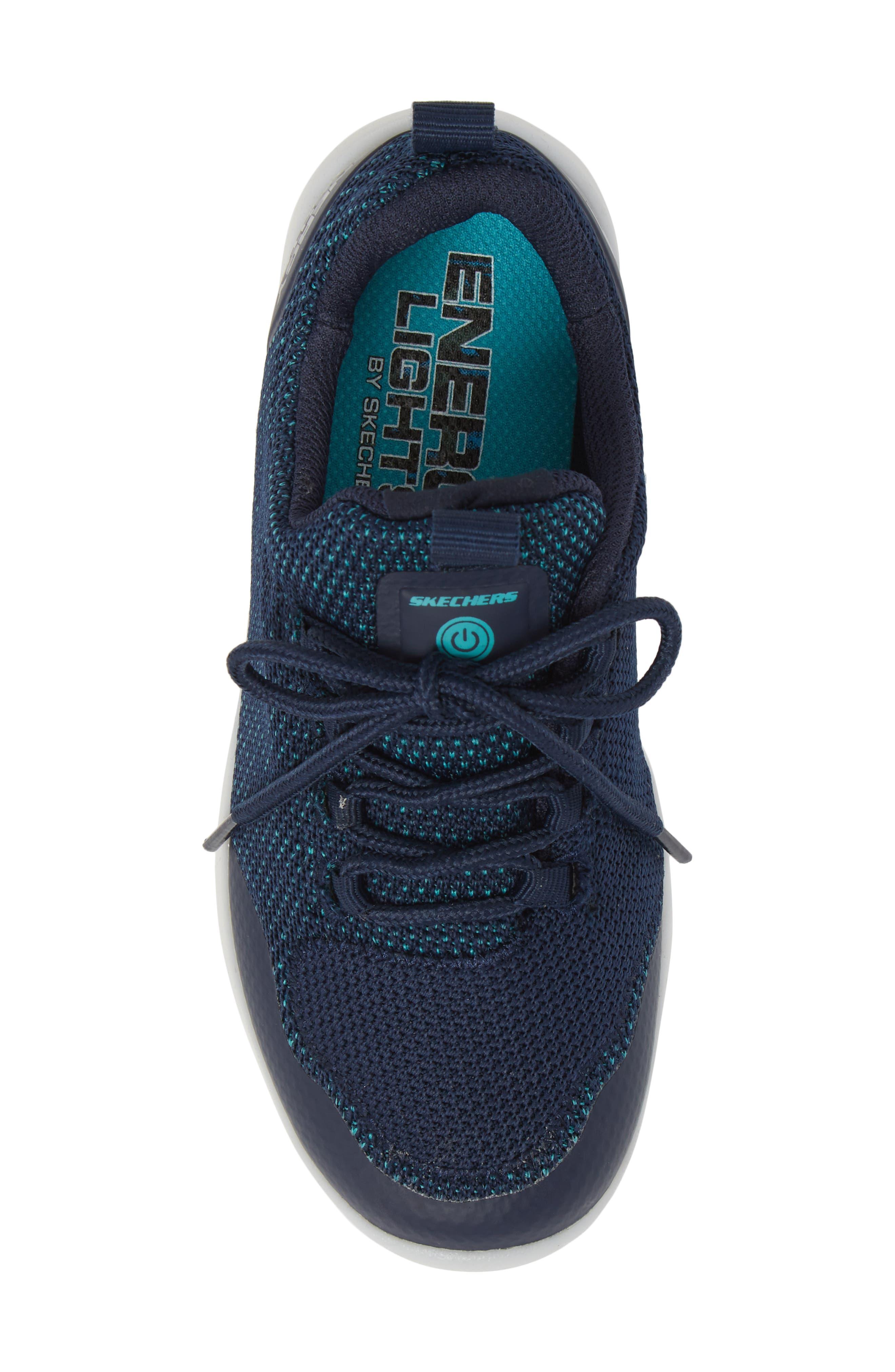 Energy Lights Street Sneaker,                             Alternate thumbnail 6, color,                             Navy
