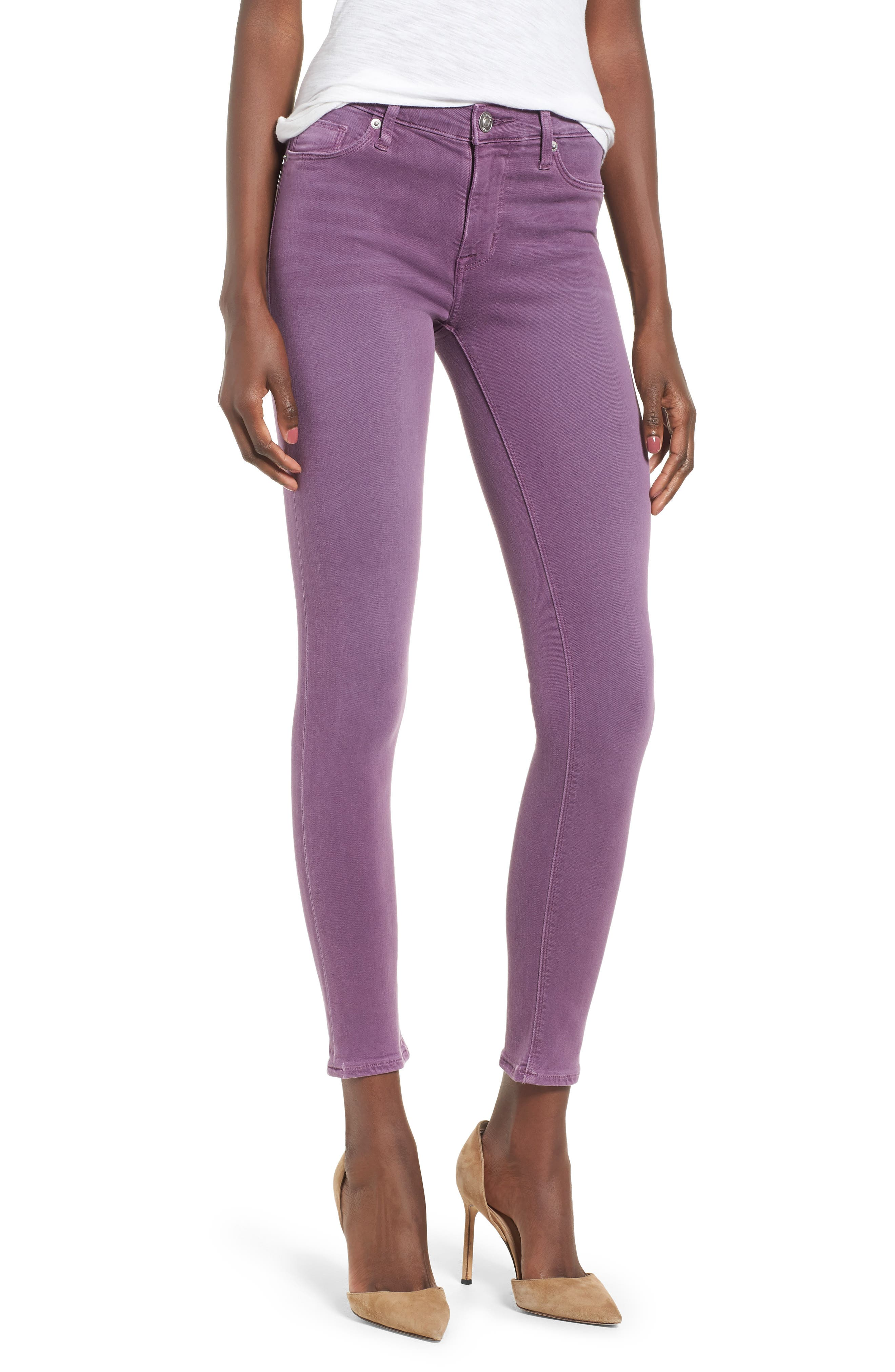 'Nico' Ankle Skinny Jeans,                             Main thumbnail 1, color,                             Dusted Orchid