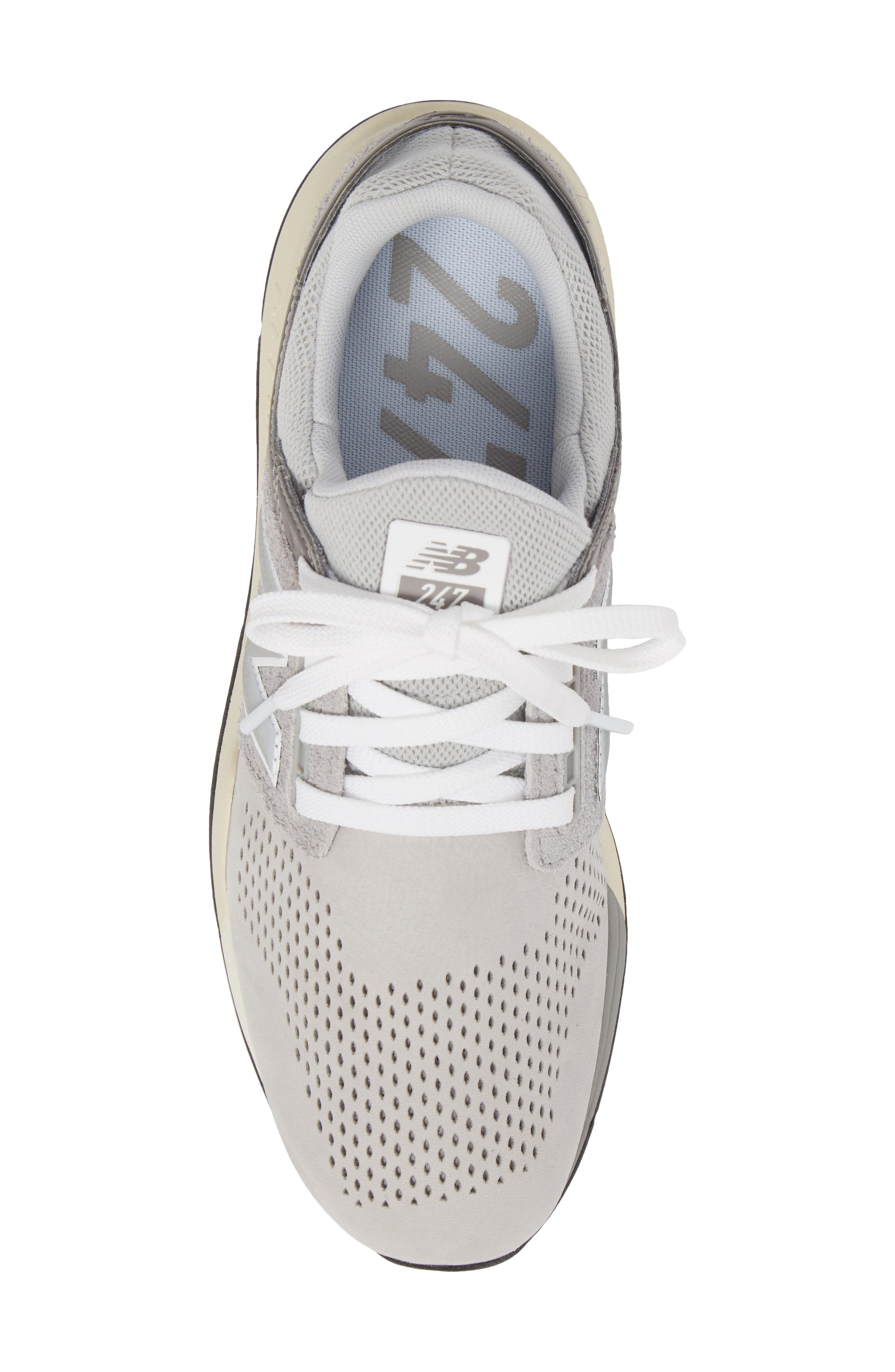 247 v2 Sneaker,                             Alternate thumbnail 4, color,                             Rain Cloud Leather