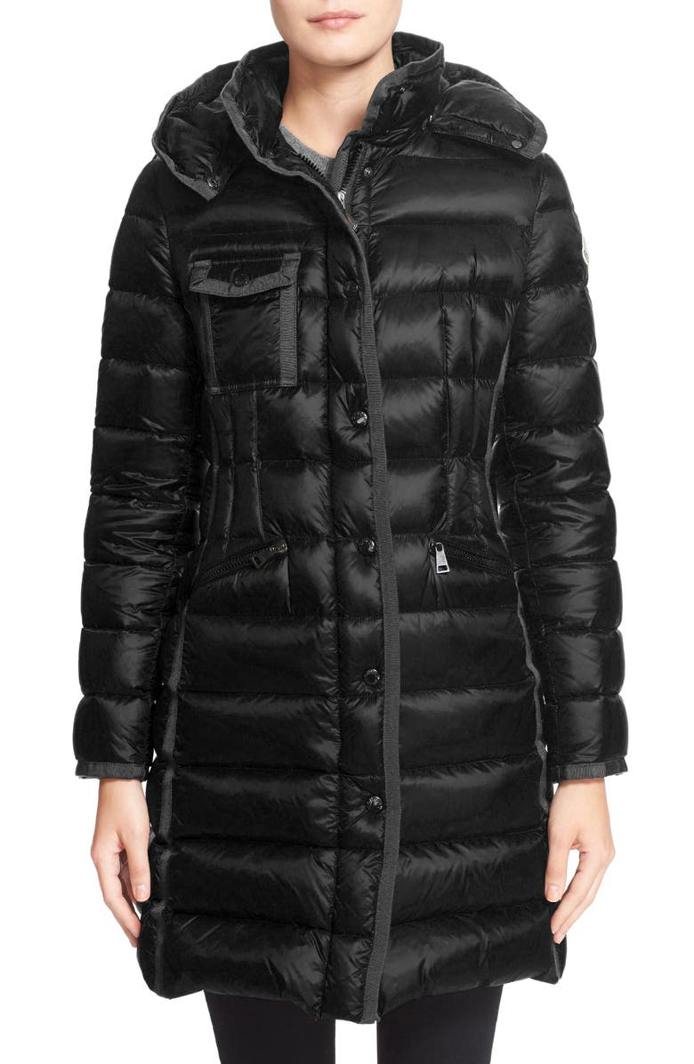Hermine Grosgrain Trim Water Resistant Down Coat