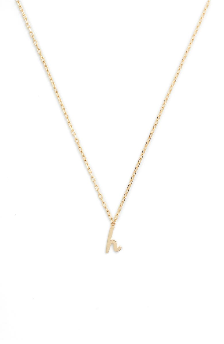 kate spade one in a million initial pendant necklace in h gold