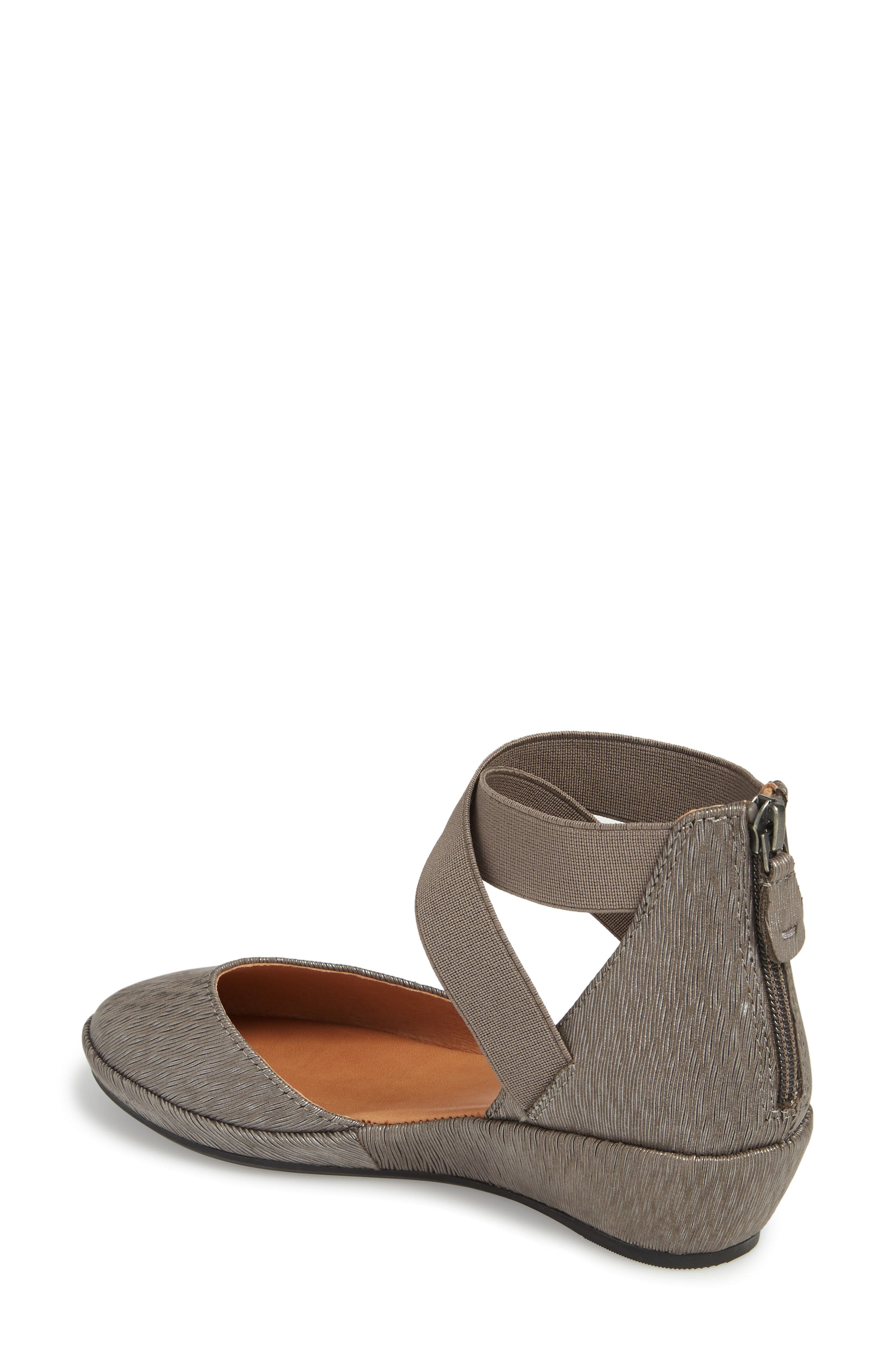 by Kenneth Cole 'Noa' Elastic Strap d'Orsay Sandal,                             Alternate thumbnail 2, color,                             Ash Embossed Leather