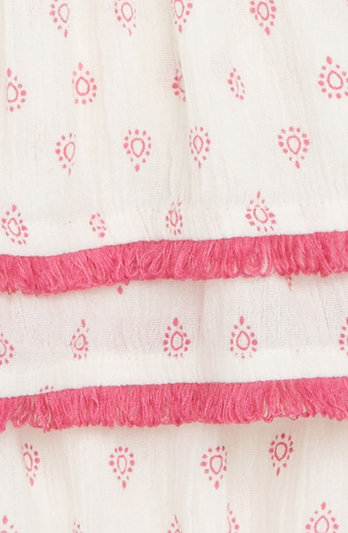 Flutter Sleeve Dress,                             Alternate thumbnail 2, color,                             Ivory Egret