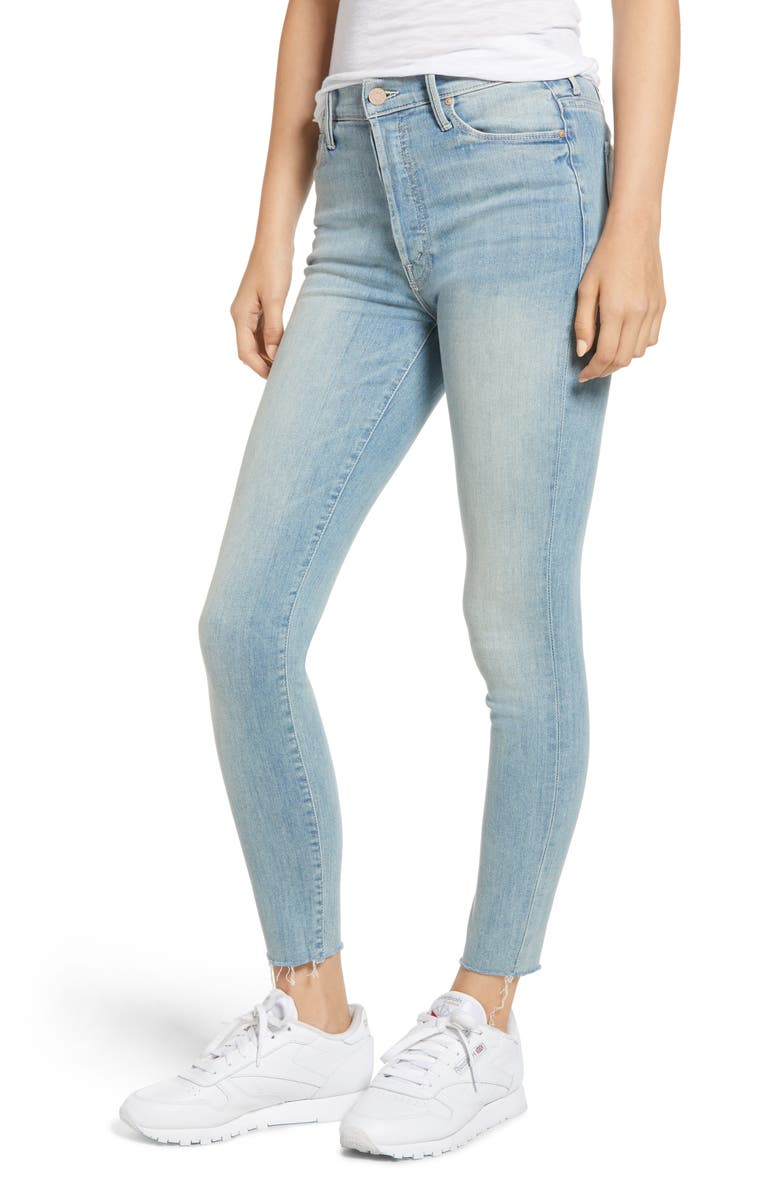 The Stunner Frayed Ankle Skinny Jeans