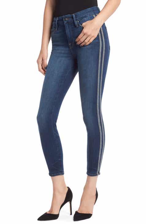 03891733770 Good American Good Legs High Waist Crop Skinny Jeans (Blue 122) (Regular   Plus  Size)