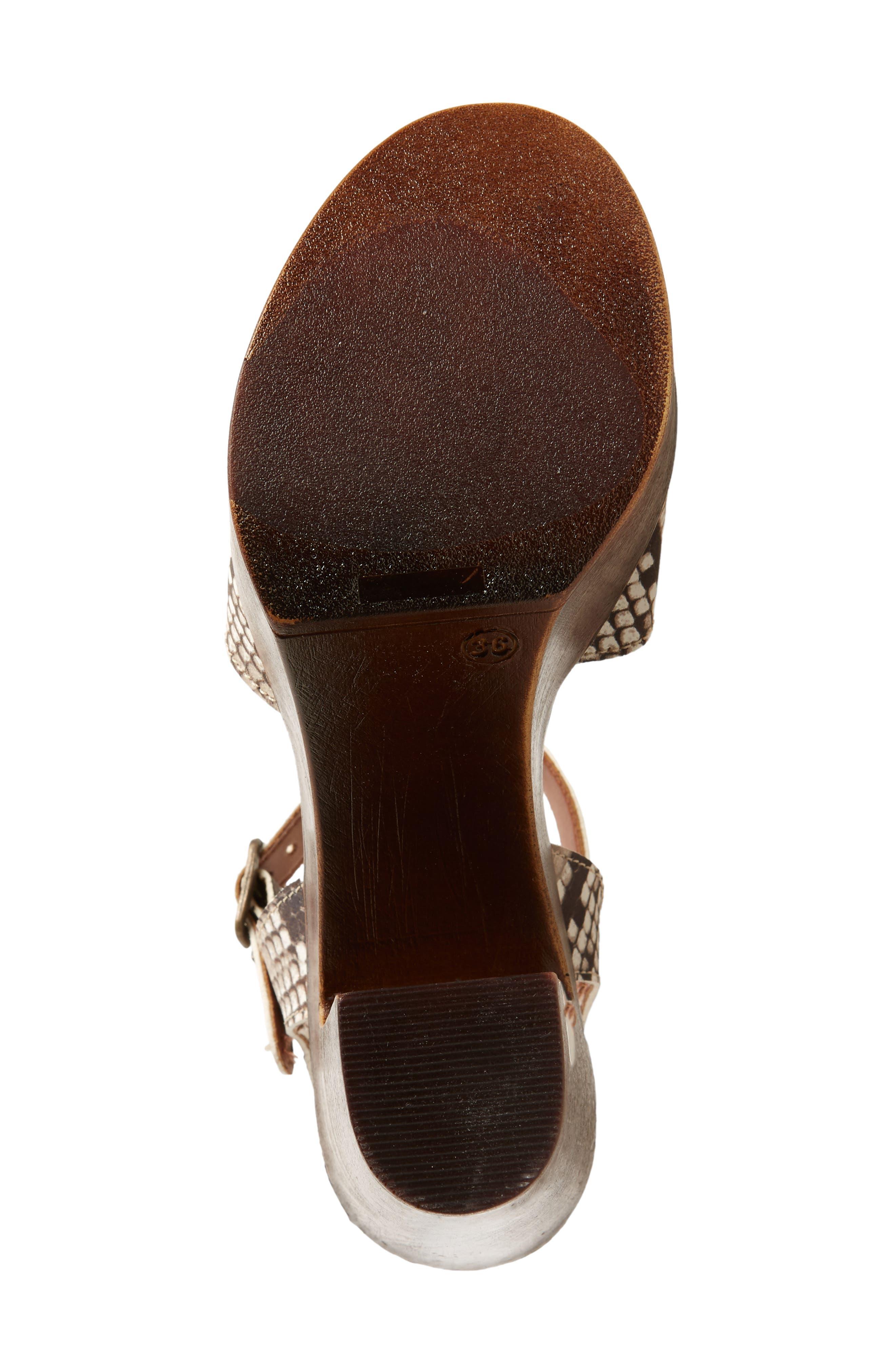 Lulla Platform Sandal,                             Alternate thumbnail 5, color,                             White Reptile