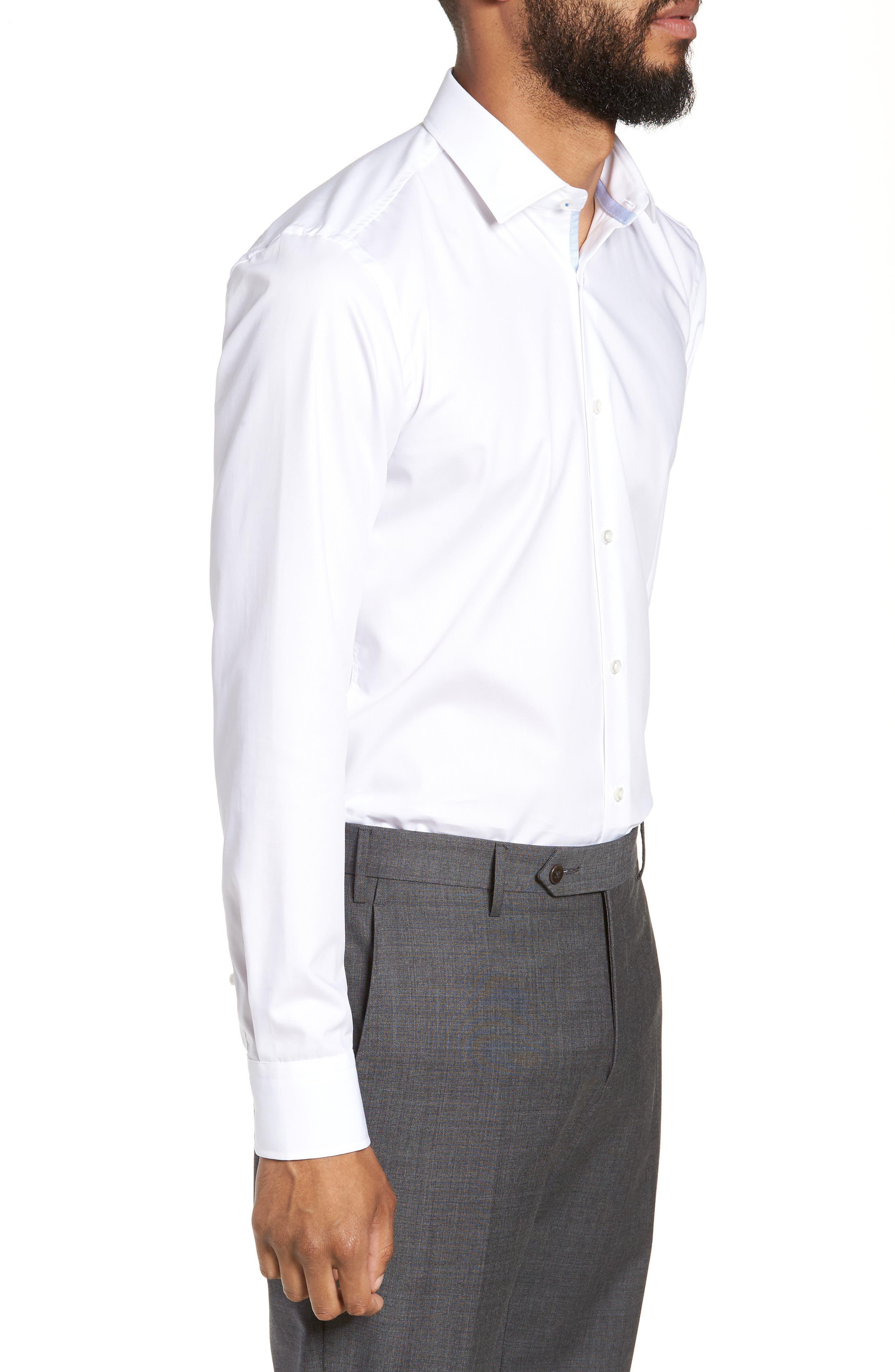 Jesse Slim Fit Easy Iron Dress Shirt,                             Alternate thumbnail 4, color,                             White