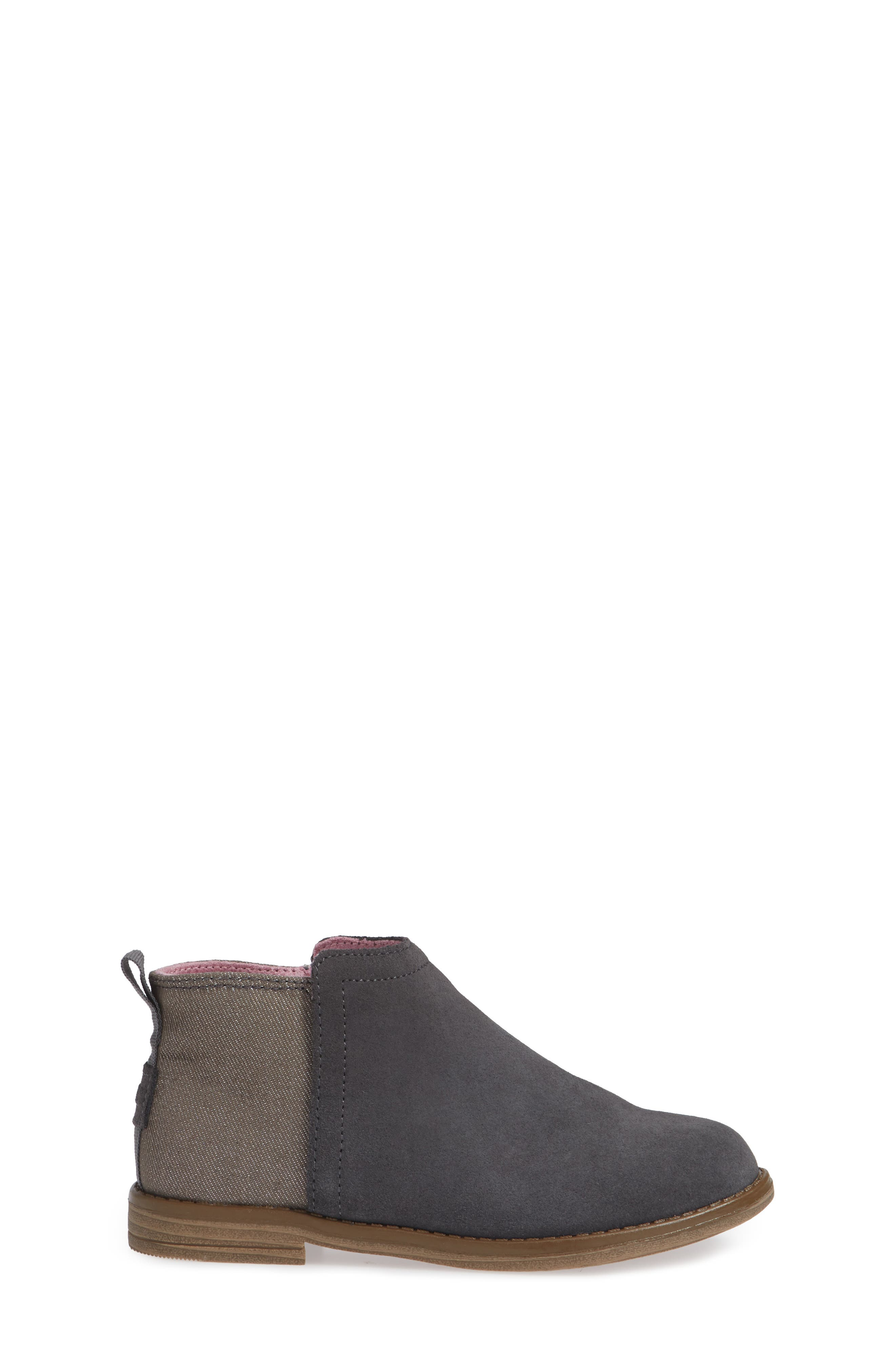 Deia Mixed Media Bootie,                             Alternate thumbnail 3, color,                             Grey Suede Glimmer