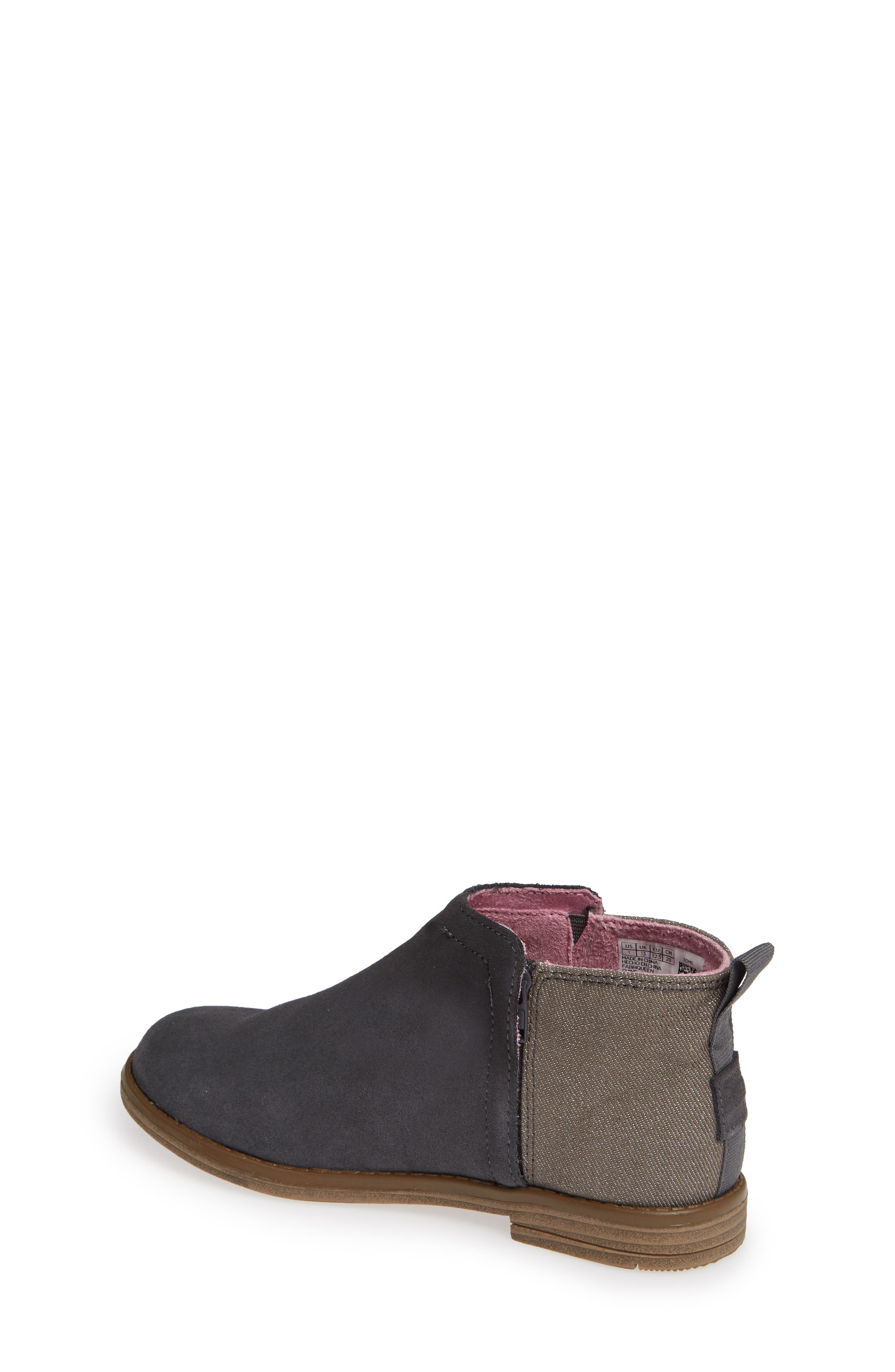 Deia Mixed Media Bootie,                             Alternate thumbnail 2, color,                             Grey Suede Glimmer