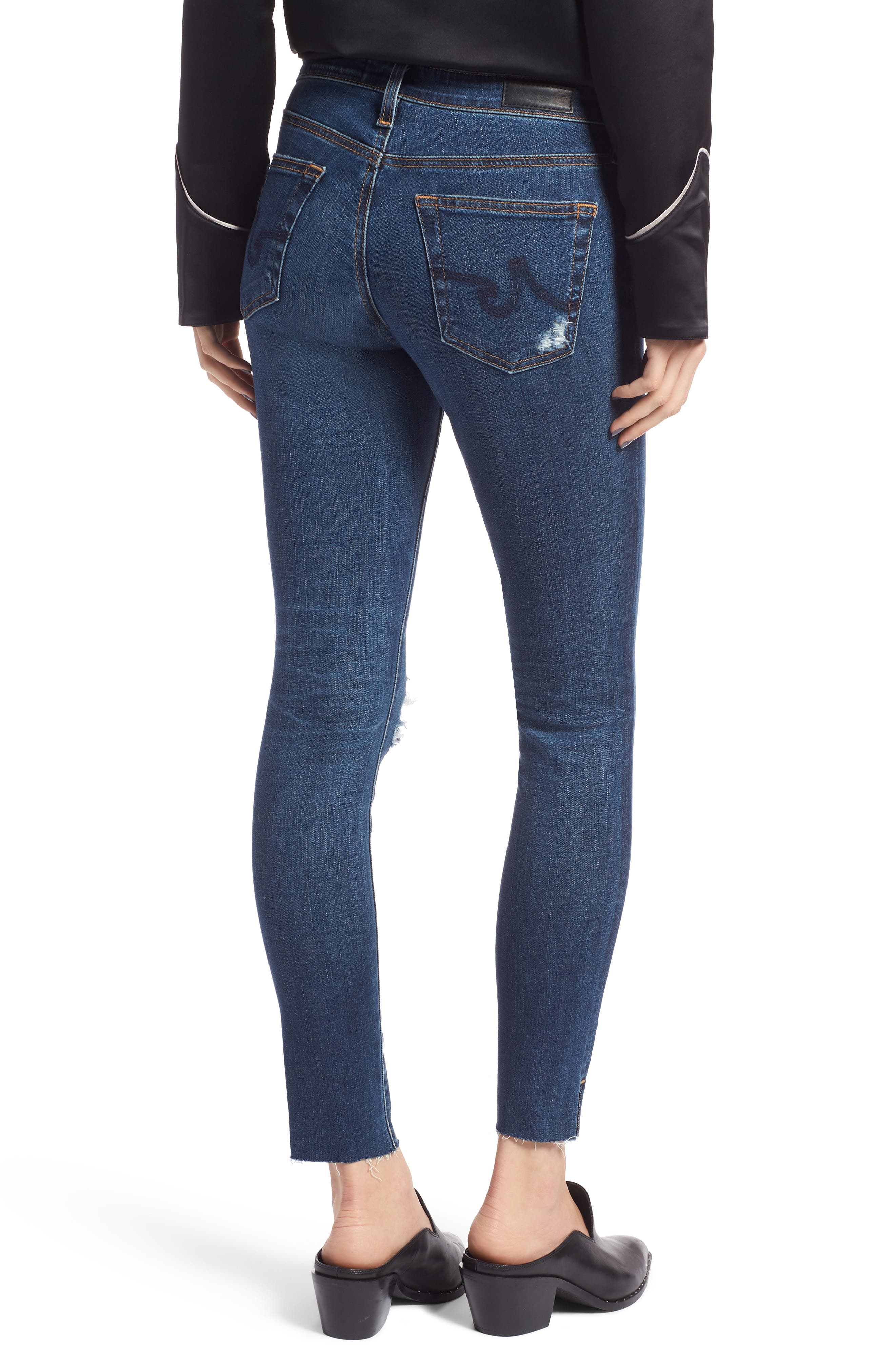 The Legging Ripped Ankle Skinny Jeans,                             Alternate thumbnail 2, color,                             04 Years Lucid Quartz