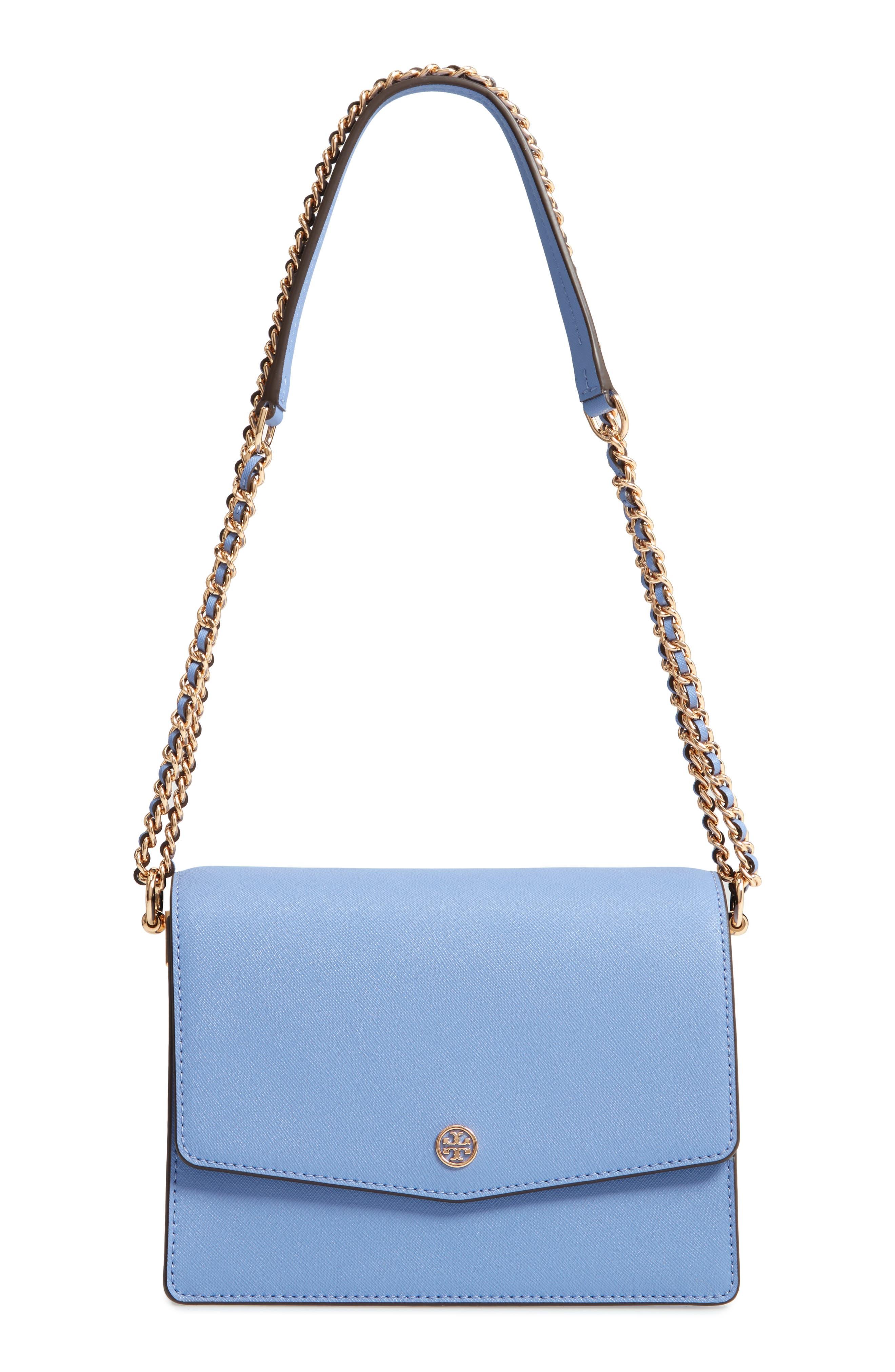 Robinson Convertible Leather Shoulder Bag,                             Alternate thumbnail 5, color,                             Bow Blue