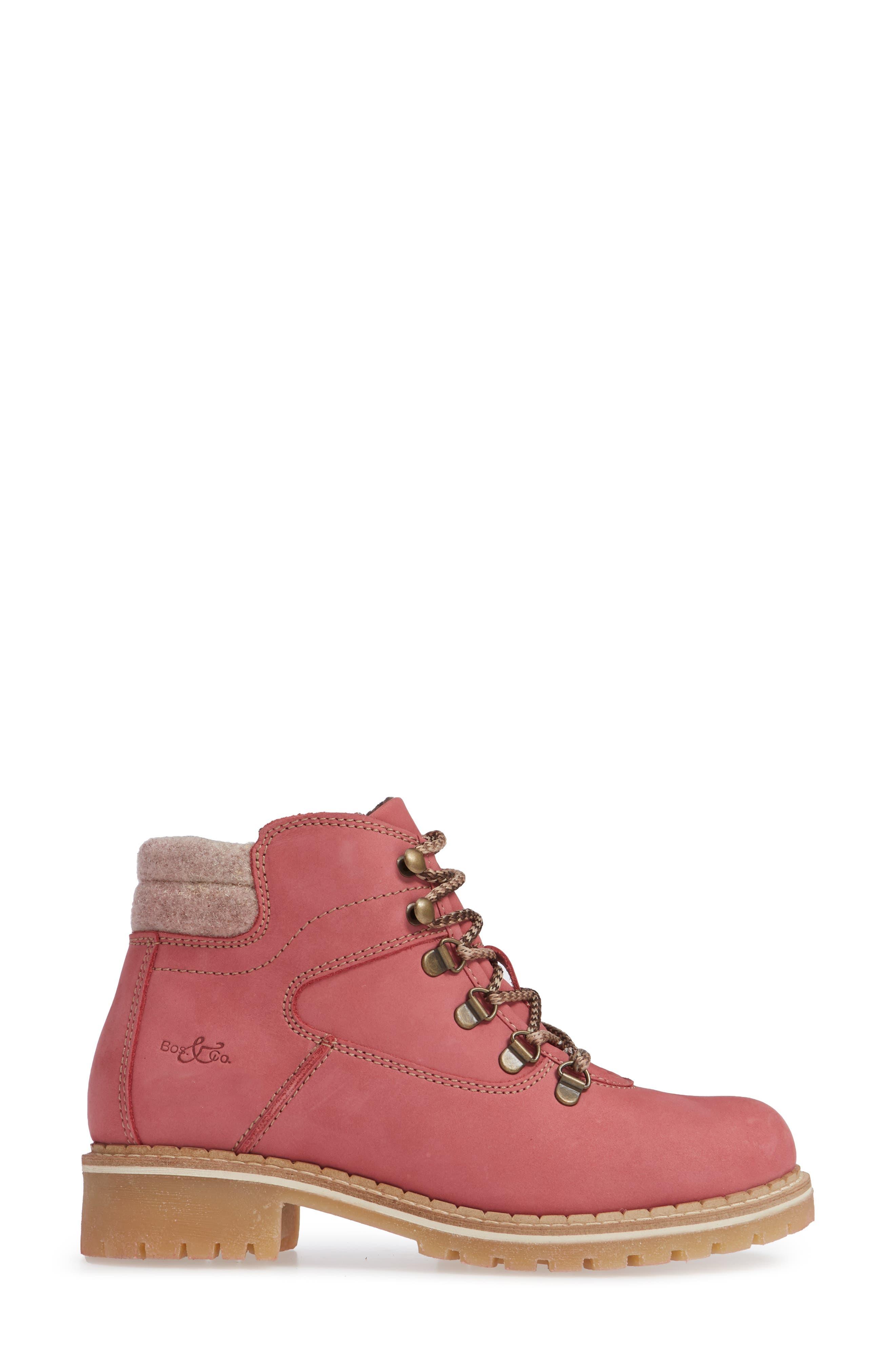Hartney Waterproof Boot,                             Alternate thumbnail 4, color,                             Rosa Wool