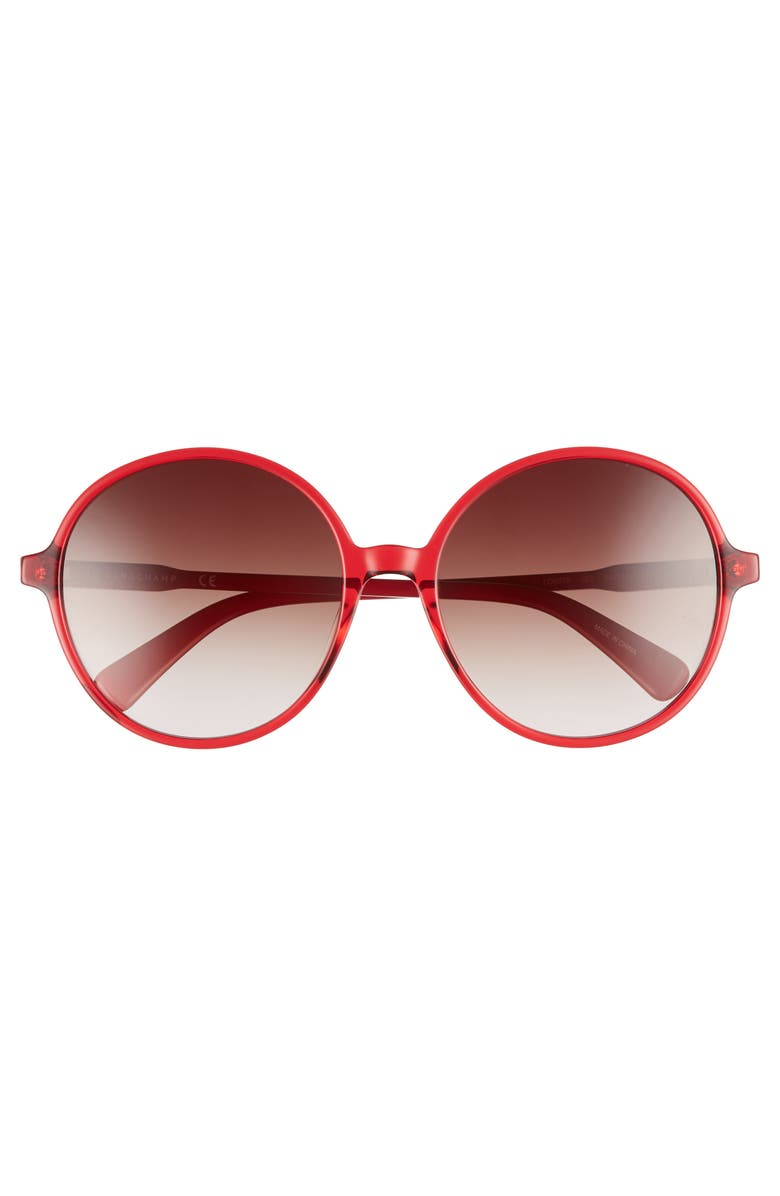 44a92aed49 LONGCHAMP 49MM GRADIENT ROUND SUNGLASSES - CHERRY  RED