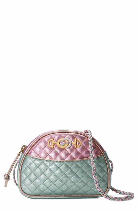 b6689aee705 Gucci Quilted Metallic Dome Crossbody Bag