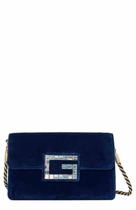e068d64d048 Gucci Small Broadway Velvet Crossbody Bag