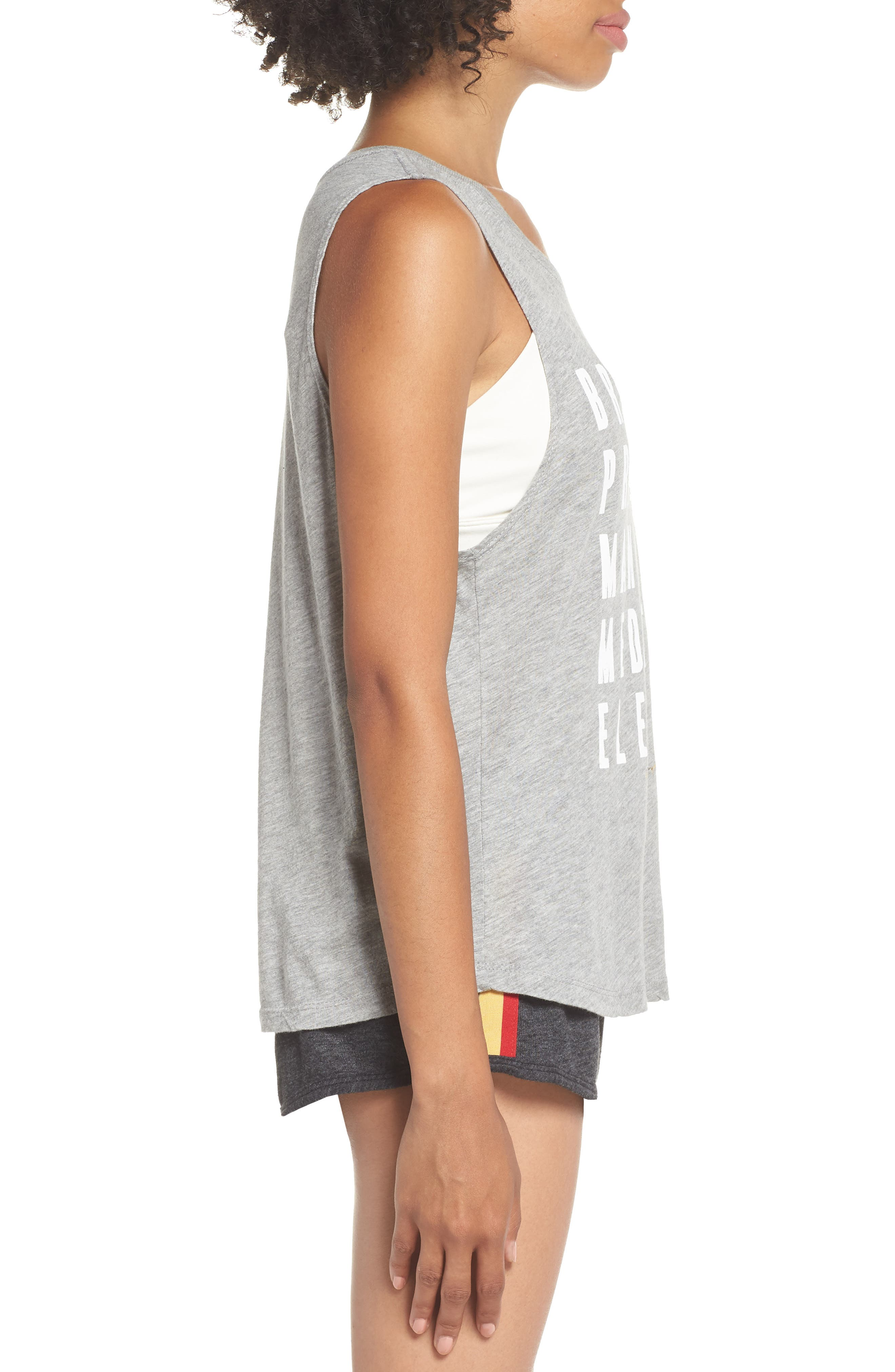 Proactive Muscle Tank Top,                             Alternate thumbnail 4, color,                             Hthr Grey