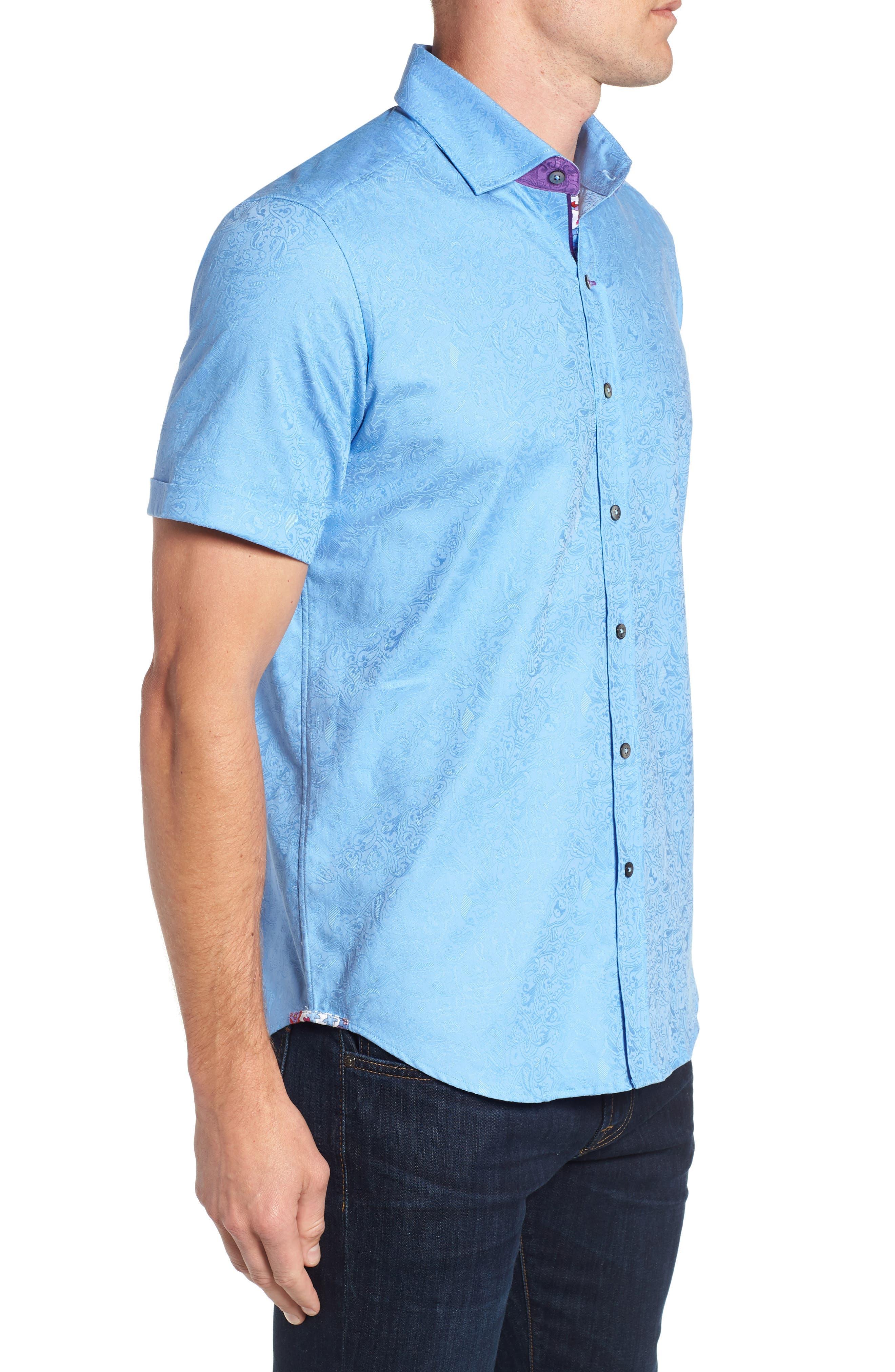 Abbott Sport Shirt,                             Alternate thumbnail 4, color,                             Blue