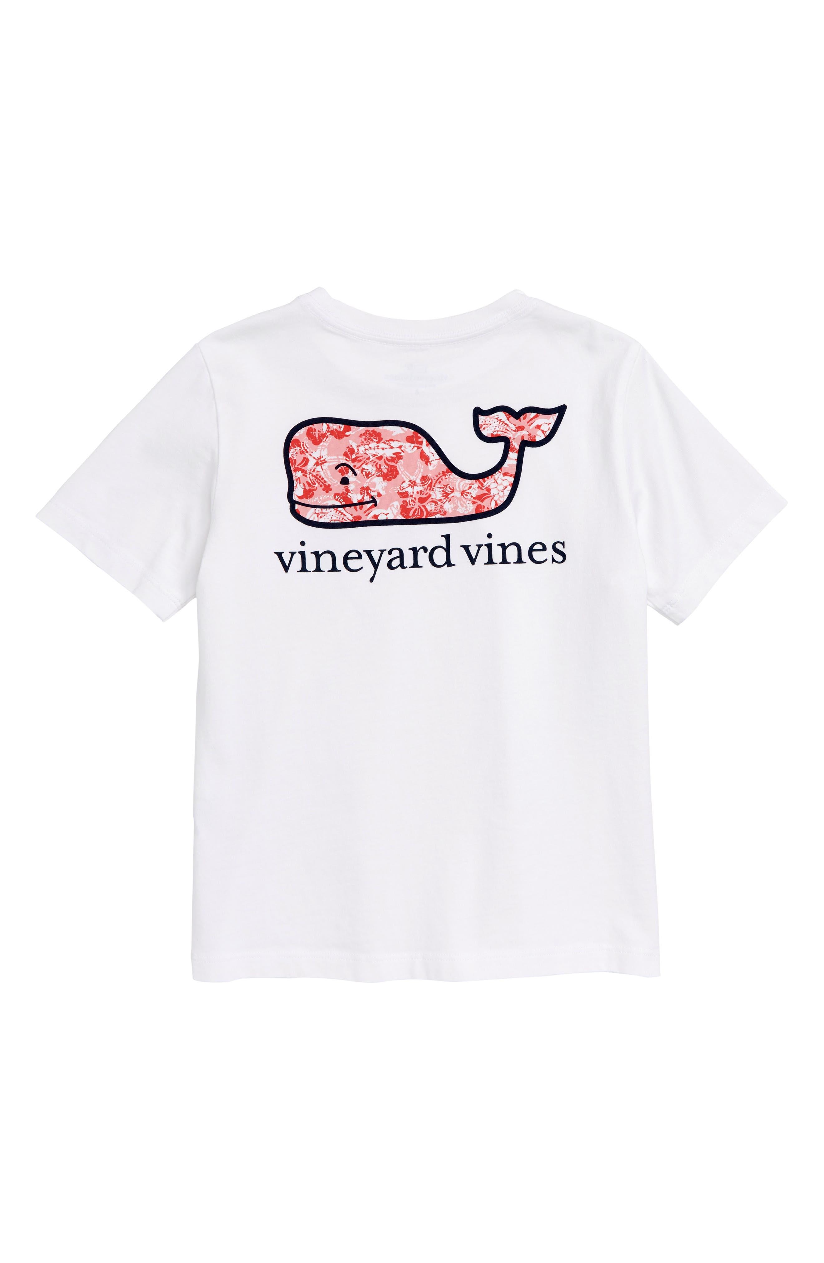 Island Batik Whale Pocket T-Shirt,                             Alternate thumbnail 2, color,                             White Cap