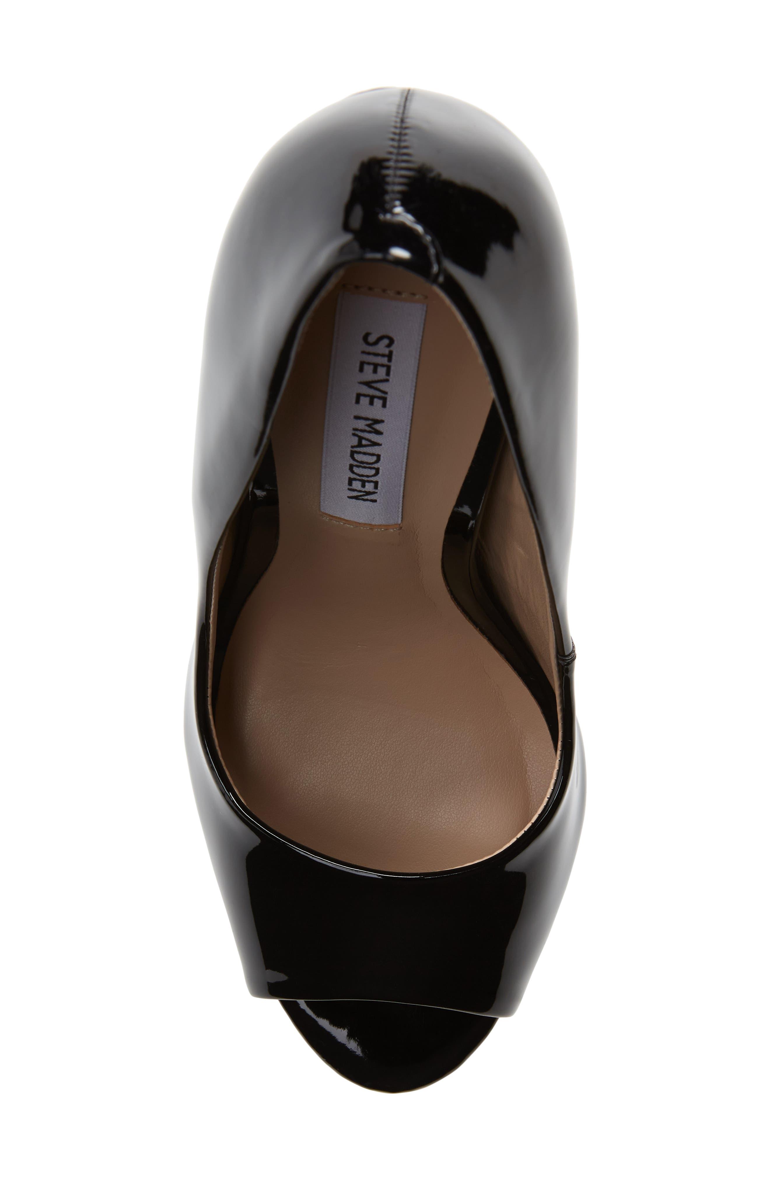 Deanna Platform Sandal,                             Alternate thumbnail 3, color,                             Black Patent