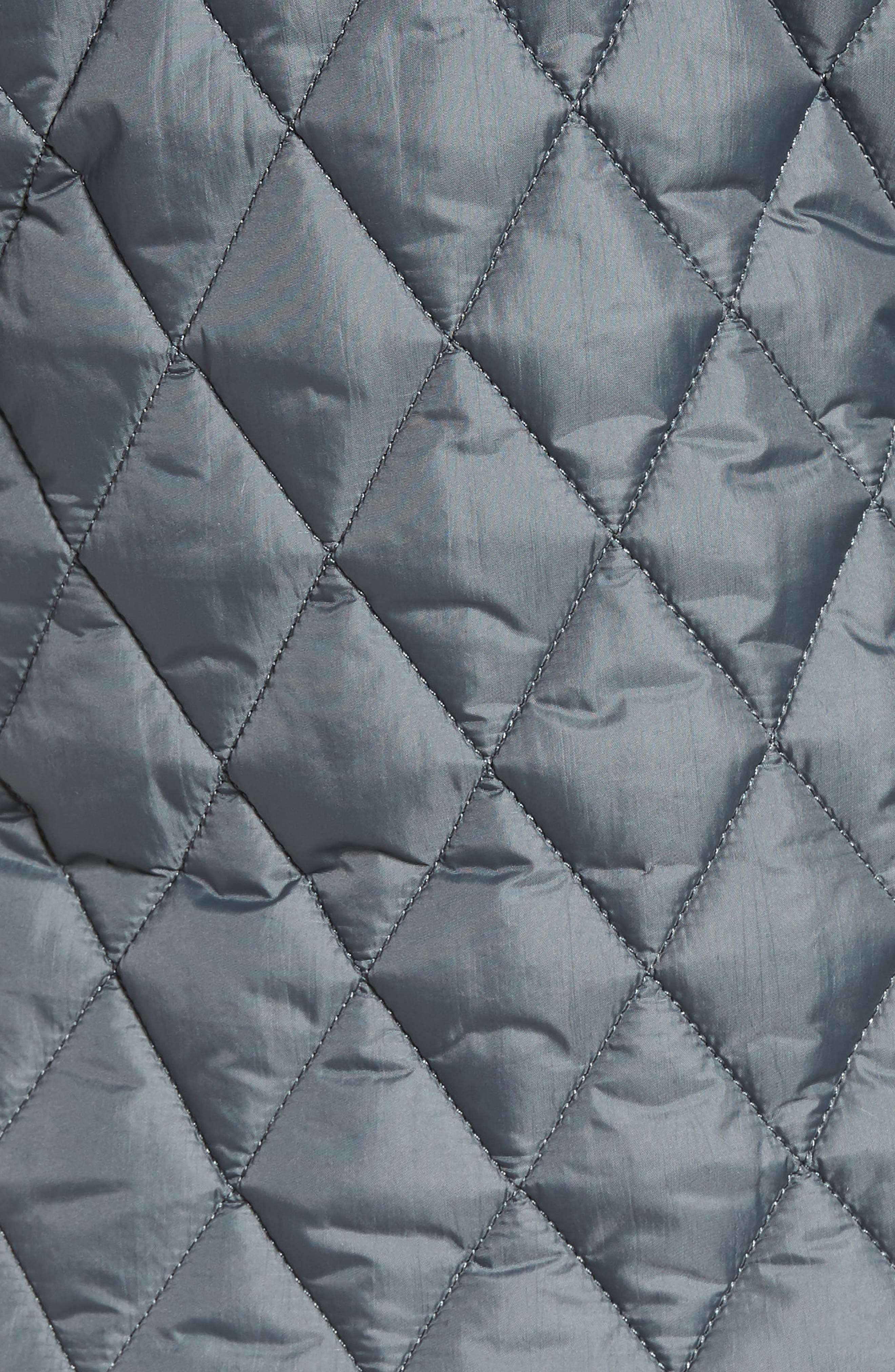 Fairway Quilted Jacket,                             Alternate thumbnail 5, color,                             Washed Charcoal
