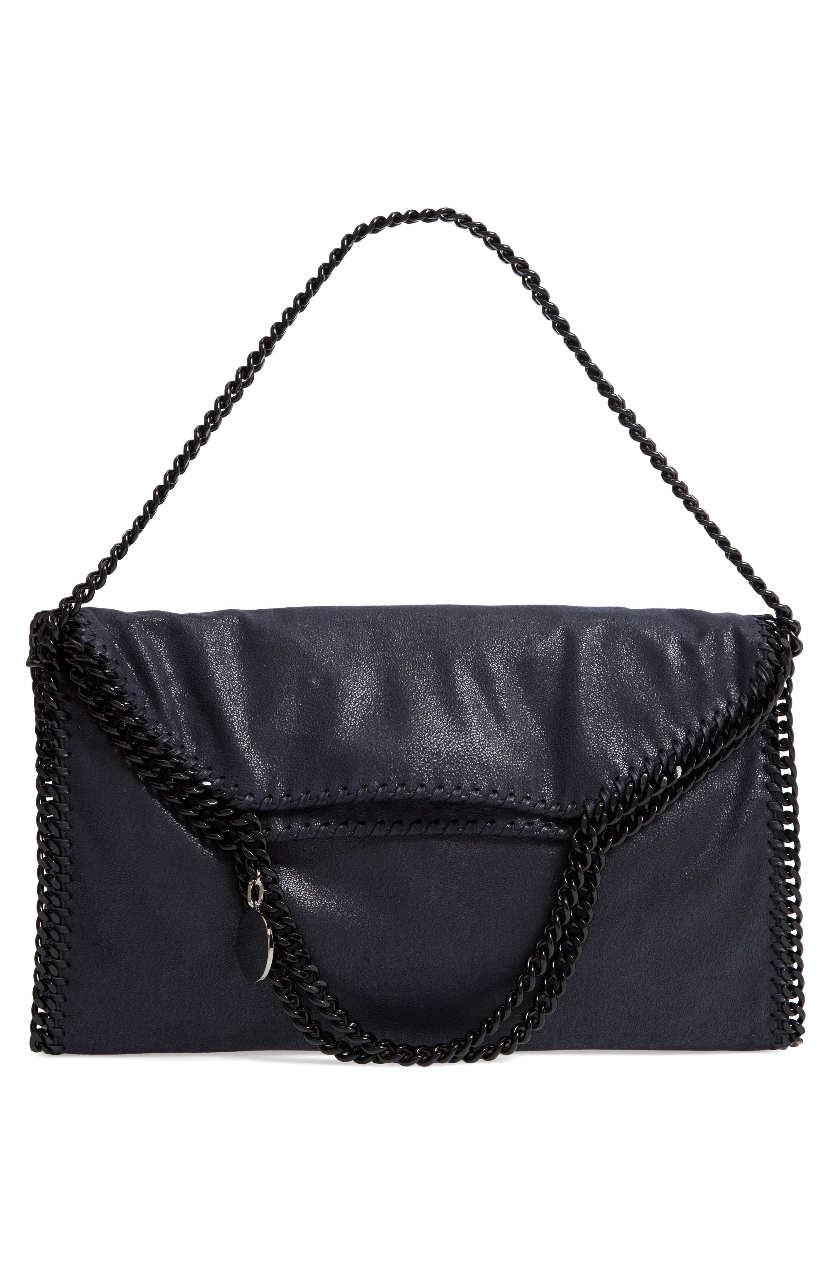Falabella Shaggy Deer Faux Leather Tote,                             Alternate thumbnail 7, color,                             Navy