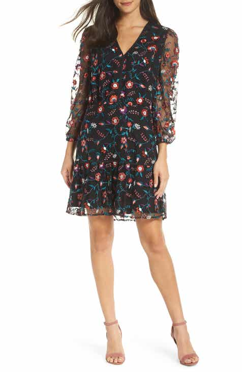 3d2babde0338 Sam Edelman Embroidered Mesh Dress