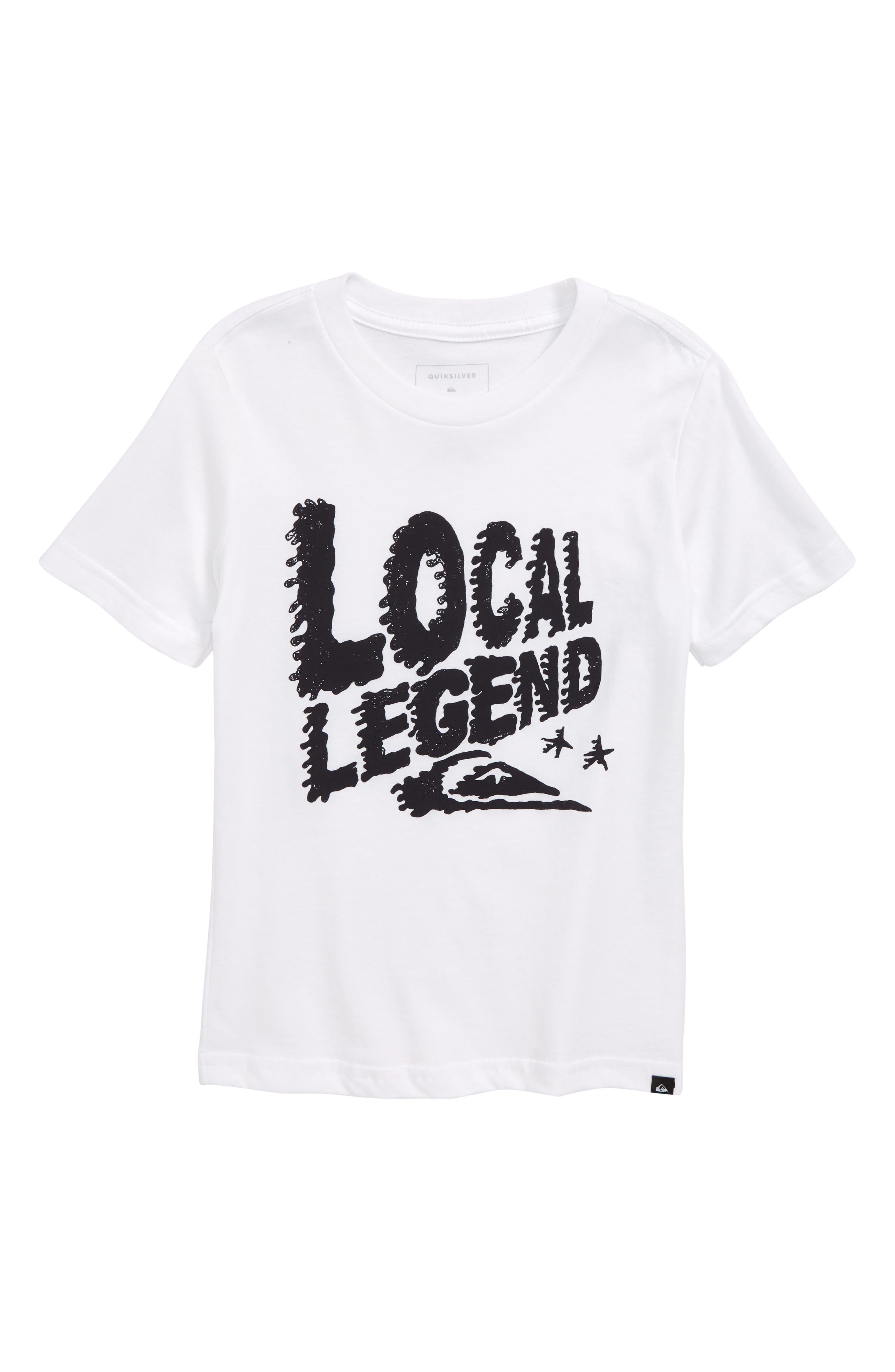 Legend Graphic T-Shirt,                         Main,                         color, White