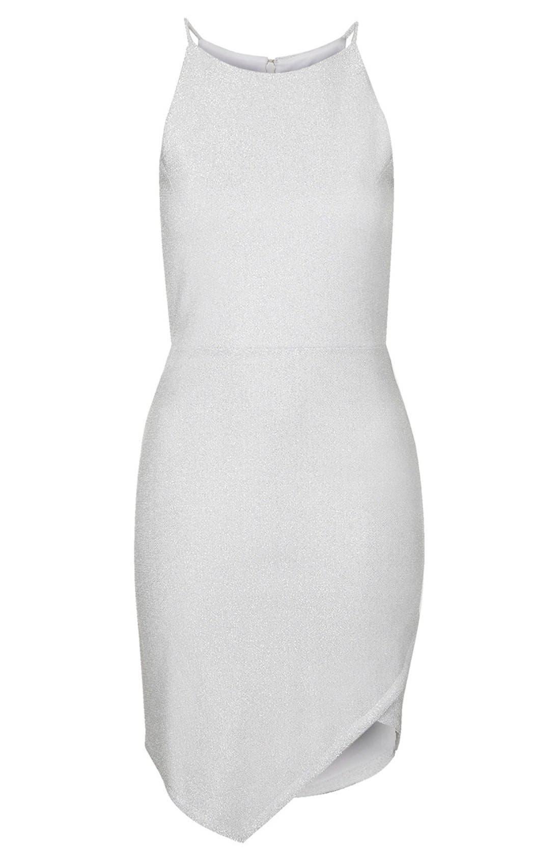 Alternate Image 3  - Topshop Tinsel Wrap Dress