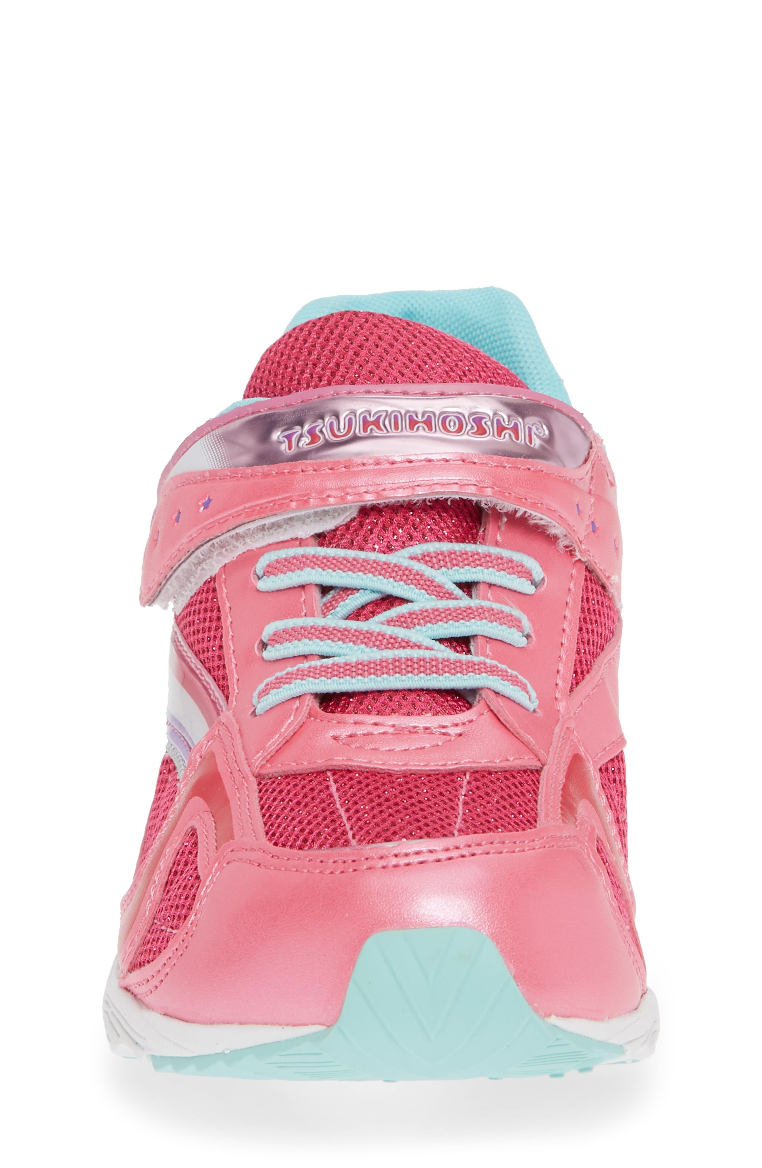 Glitz Washable Sneaker,                             Alternate thumbnail 6, color,                             Hot Pink/ Mint