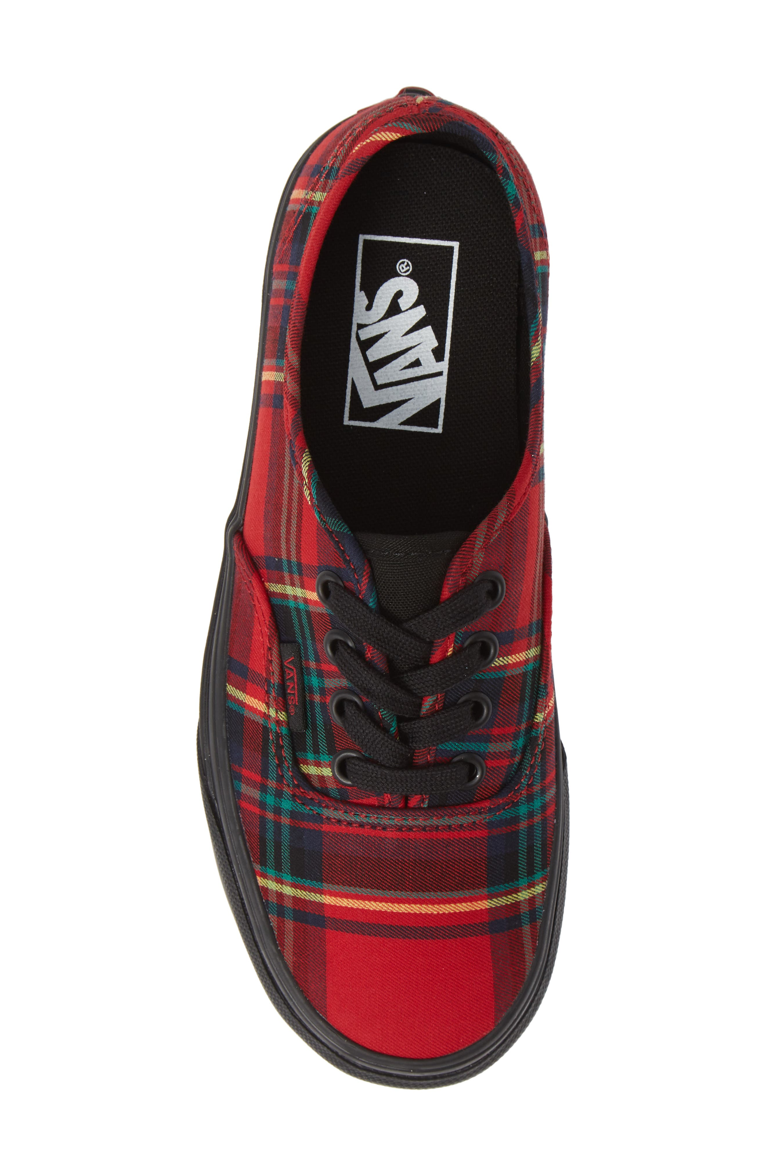 'Authentic' Sneaker,                             Alternate thumbnail 6, color,                             Plaid Mix Red
