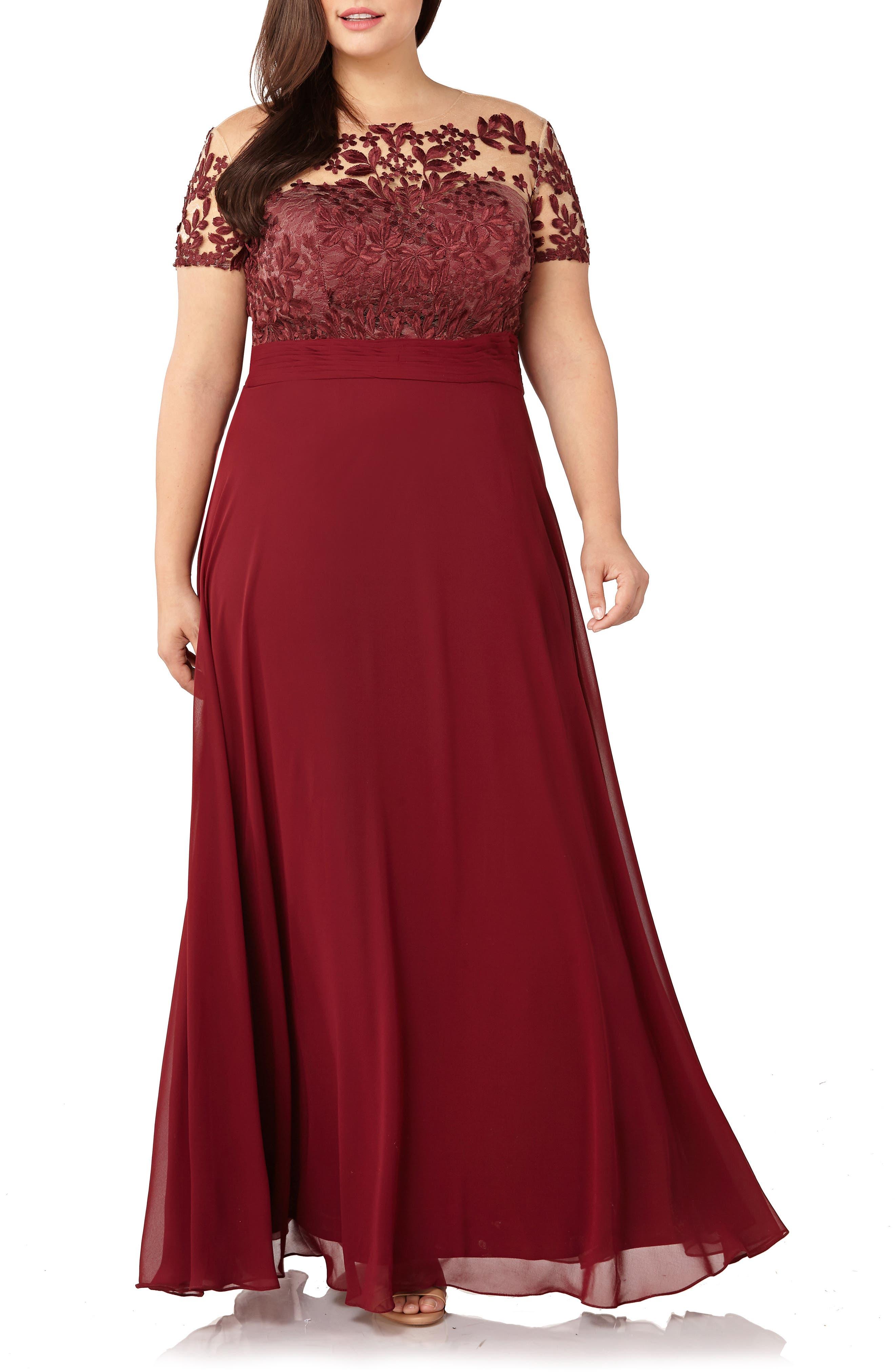 Red Long Sleeve Semi Formal Dress Nordstrum