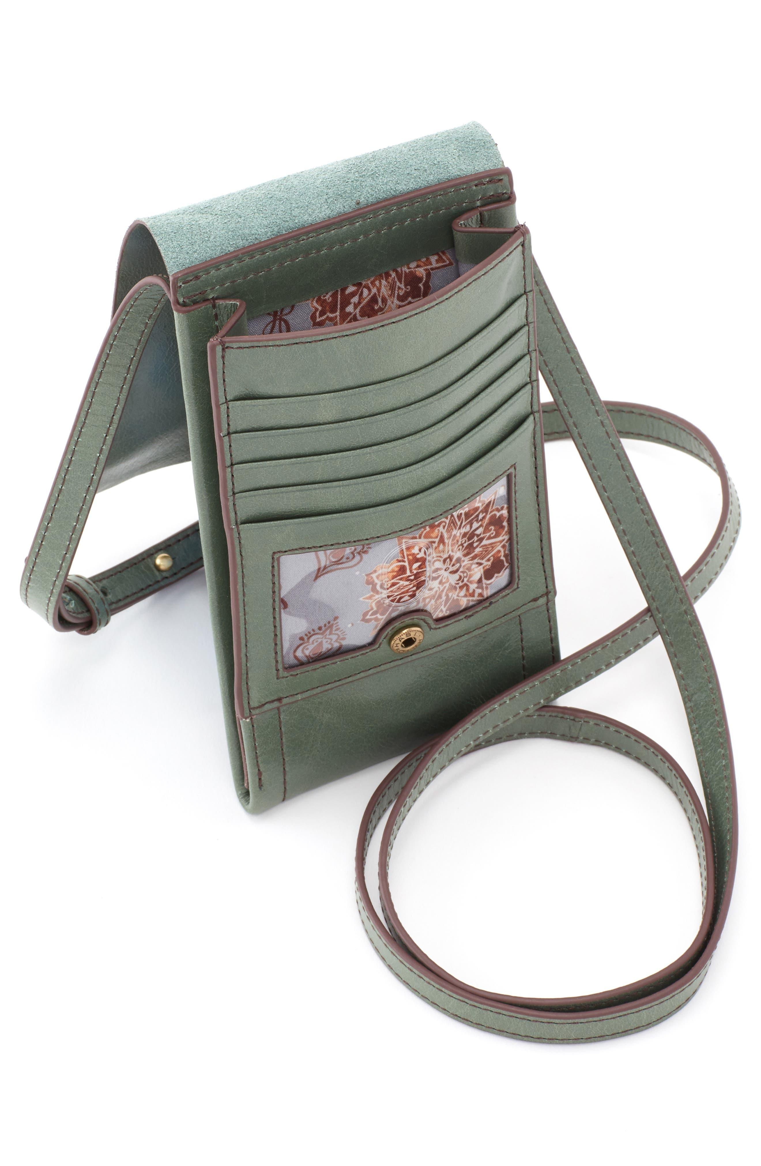 Token Smartphone Crossbody Bag,                             Alternate thumbnail 3, color,                             Moss