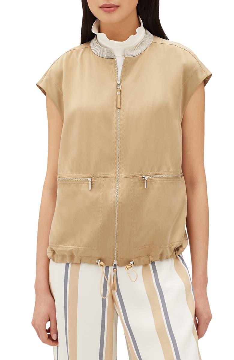 Tonya Artistry Silk Chain Detail Vest