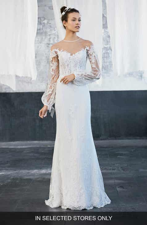 Long Sleeve Wedding Dresses & Bridal Gowns | Nordstrom