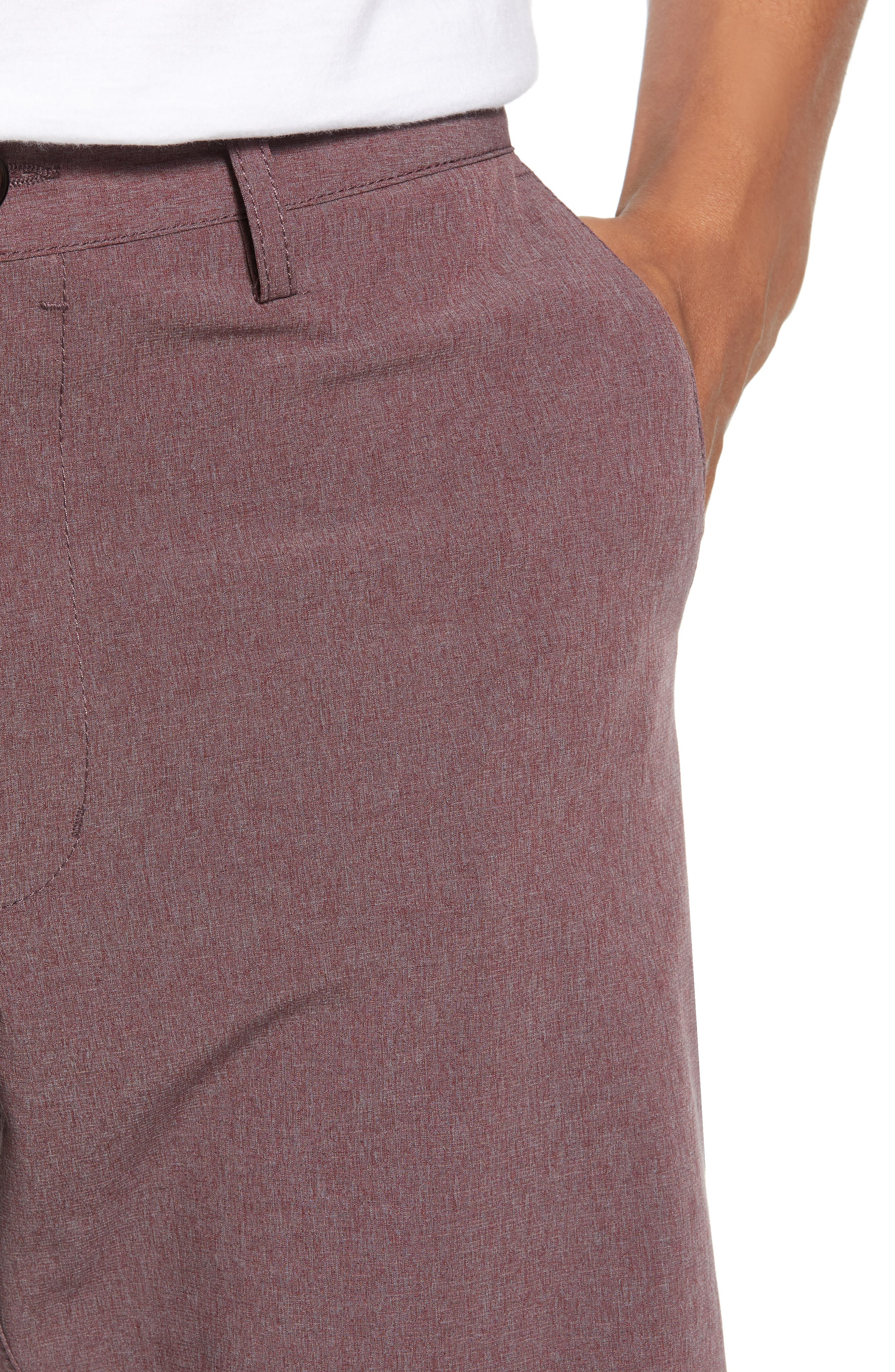 Adrenaline Stretch Shorts,                             Alternate thumbnail 5, color,                             Berry