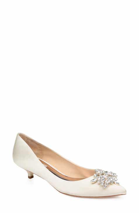 94650eb3360 Badgley Mischka Vail Embellished Kitten Heel Pump (Women)