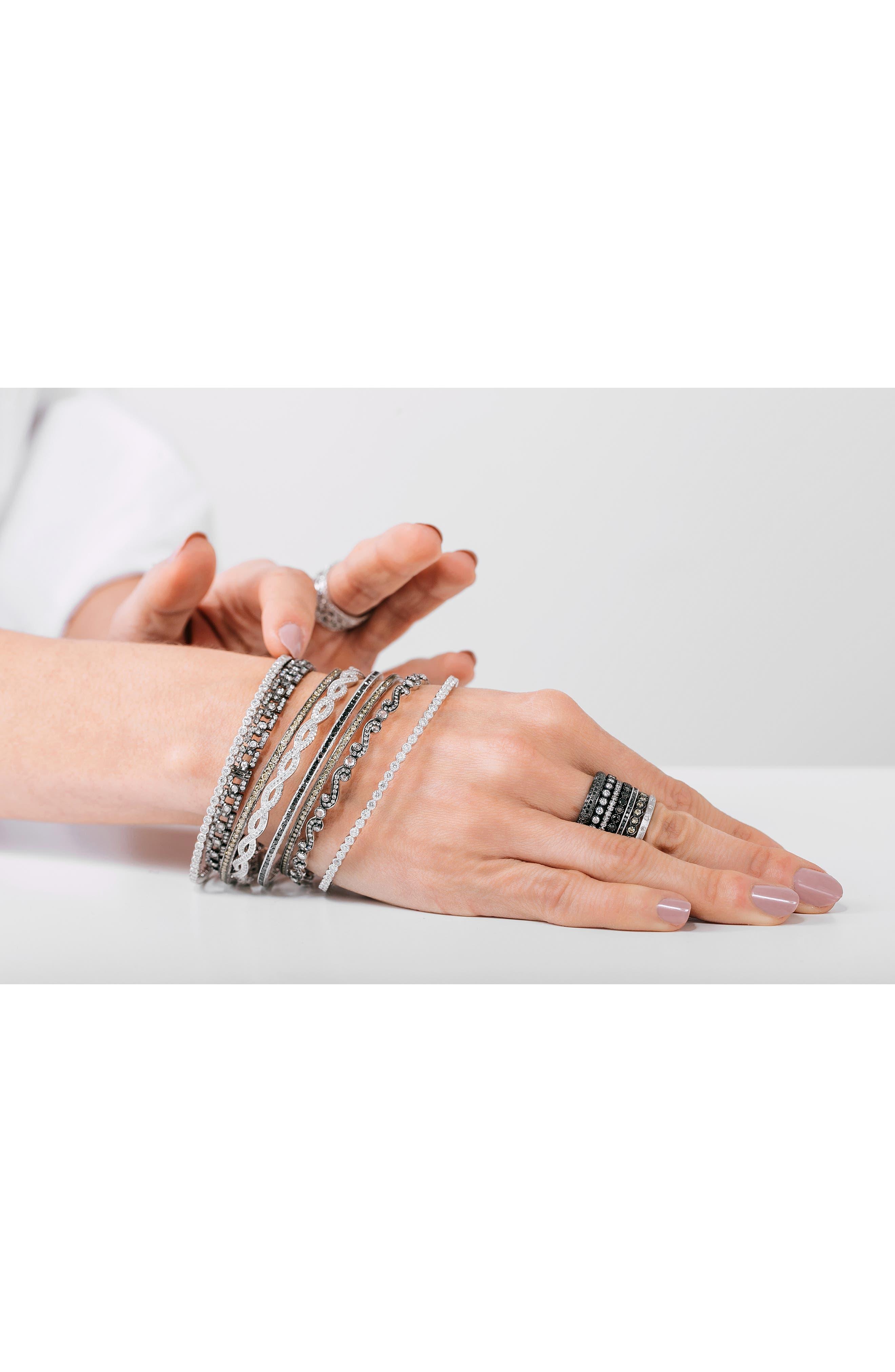 Channel Set Diamond Ring,                             Alternate thumbnail 3, color,                             White Gold/ Black Diamond