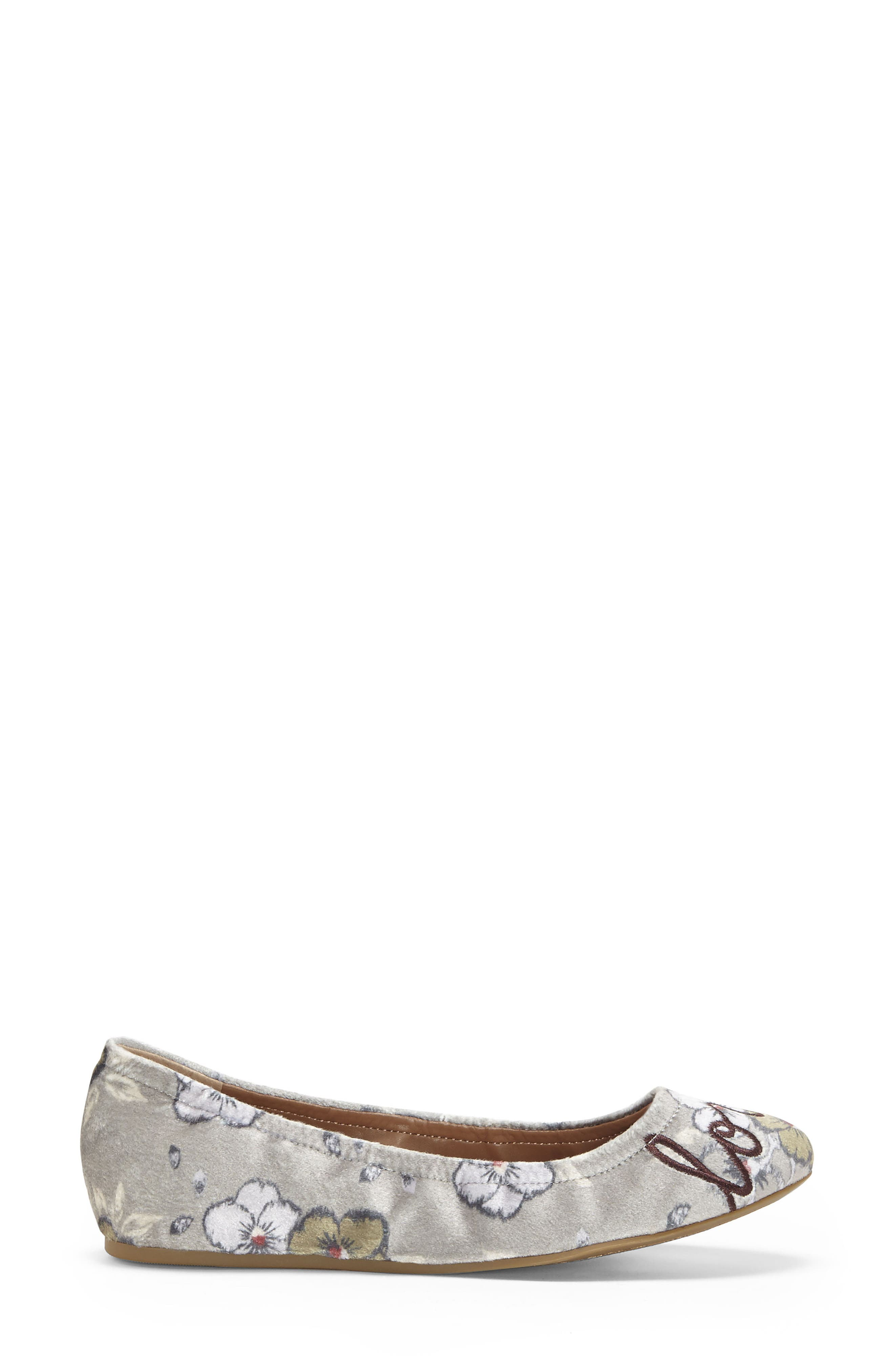 'Langston' Ballet Flat,                             Alternate thumbnail 4, color,                             Light Shadow Leather