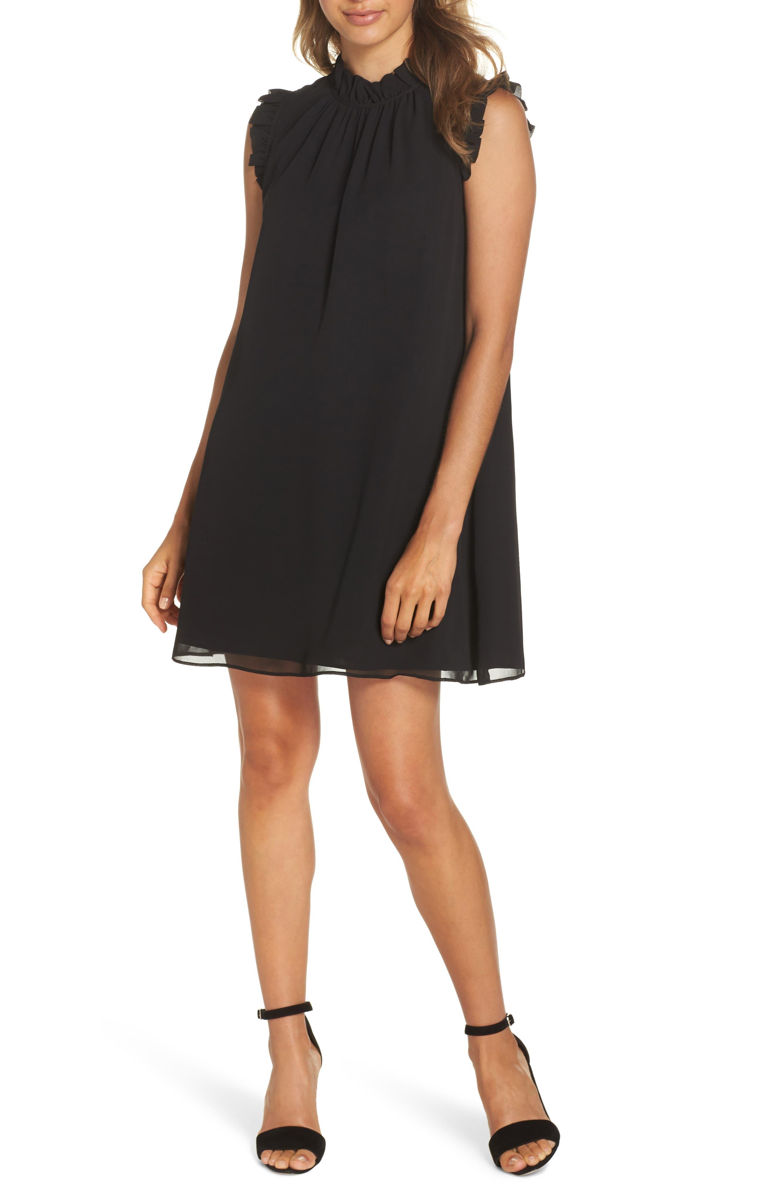 ALI & JAY WONDERFUL THINGS RUFFLE NECK SHIFT DRESS