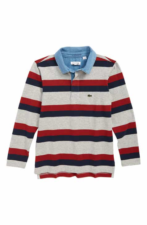 a96e10bd04 Lacoste Stripe Rugby Polo Shirt (Toddler Boys   Little Boys)