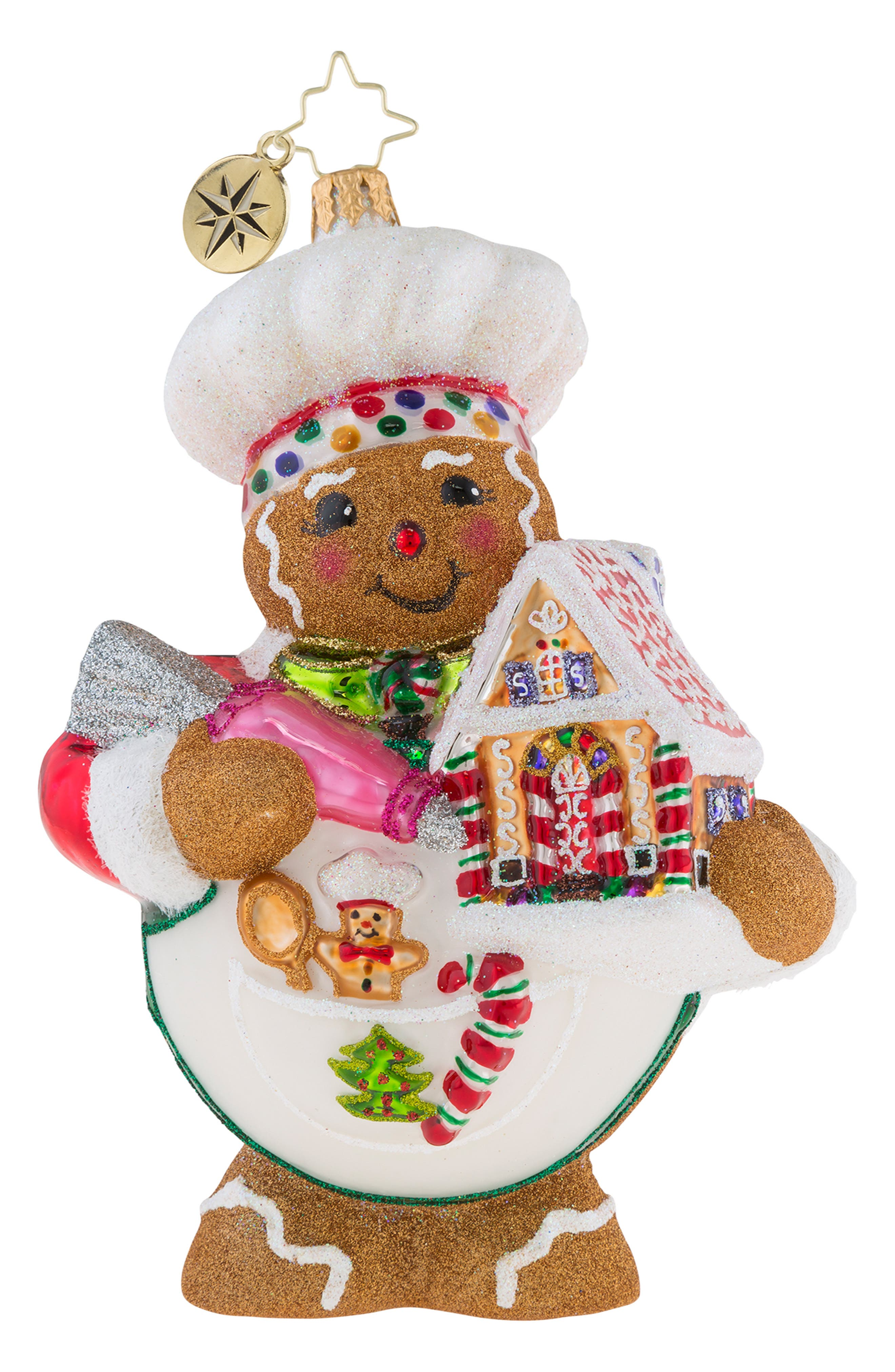 Sweetest Chef Around Ornament,                             Main thumbnail 1, color,                             Brown Multi