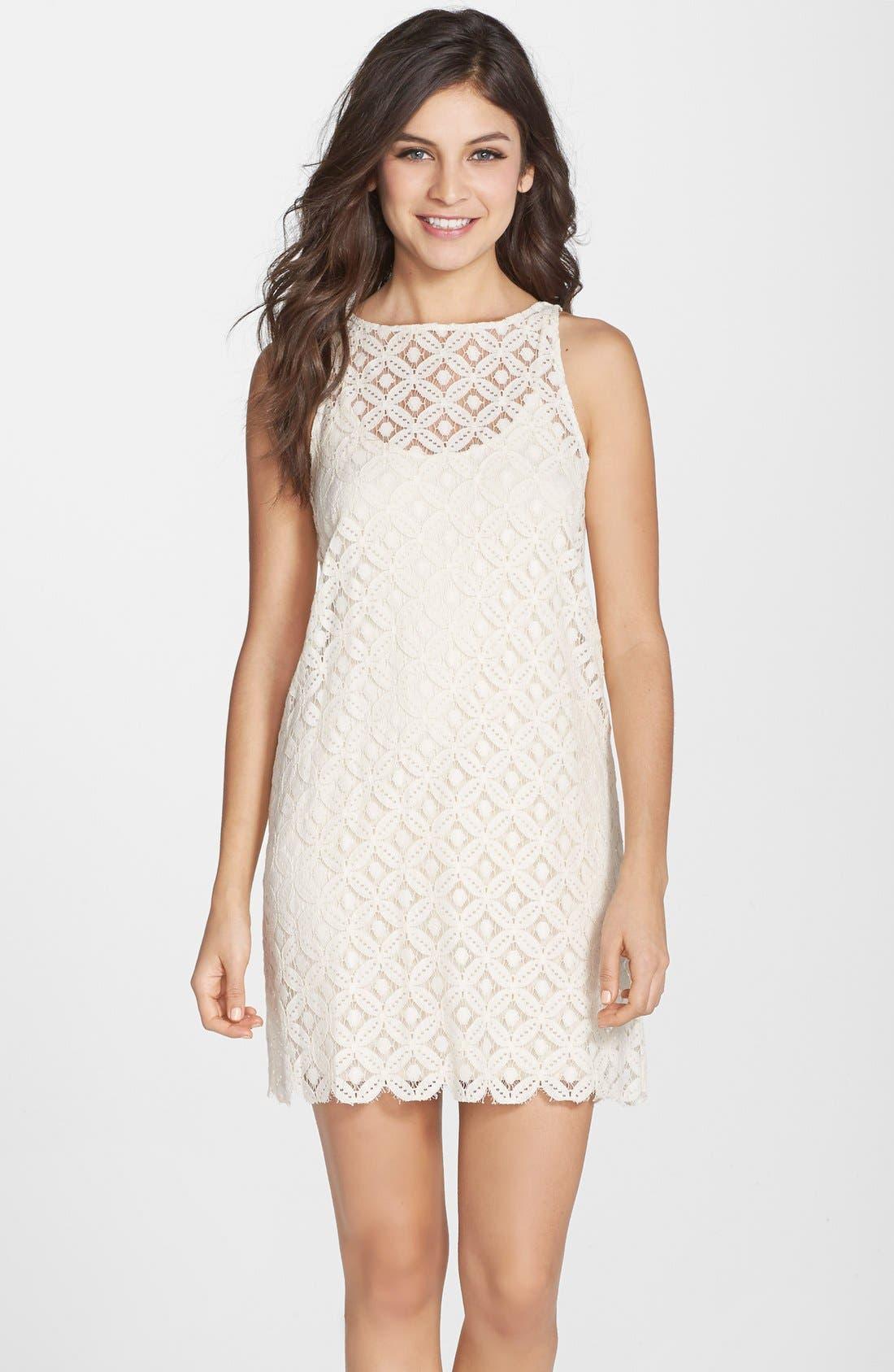 Alternate Image 1 Selected - BB Dakota 'Mark' Lace Sleeveless Shift Dress