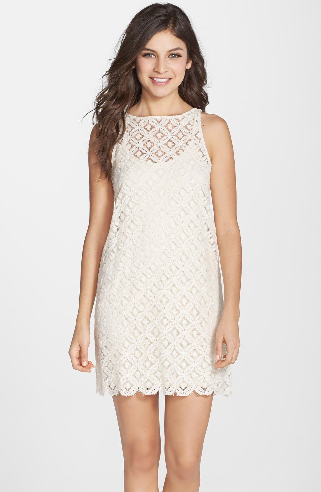 Main Image - BB Dakota 'Mark' Lace Sleeveless Shift Dress