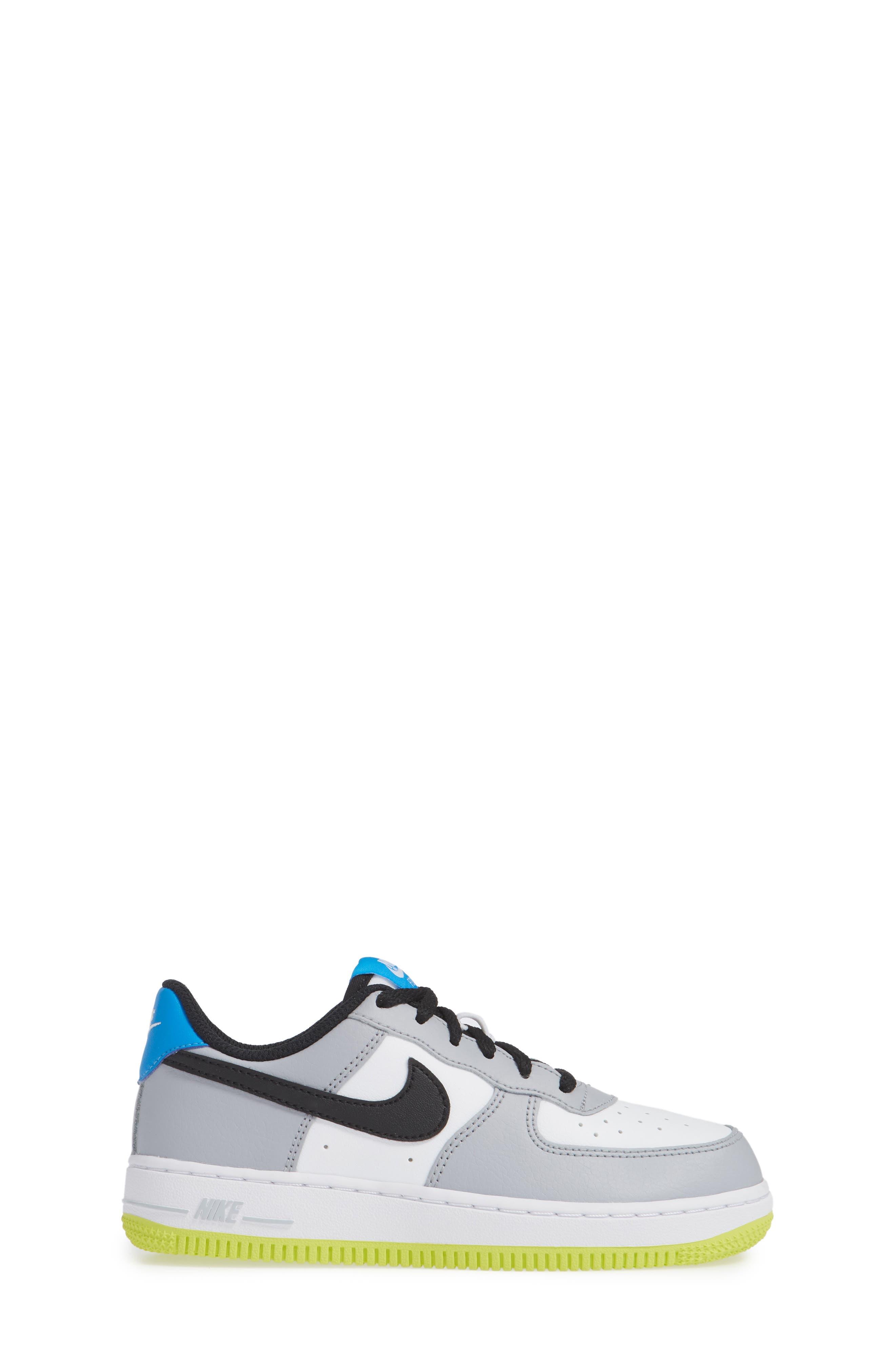 Air Force 1 Sneaker,                             Alternate thumbnail 6, color,                             Wolf Grey/ Black/ White/ Blue