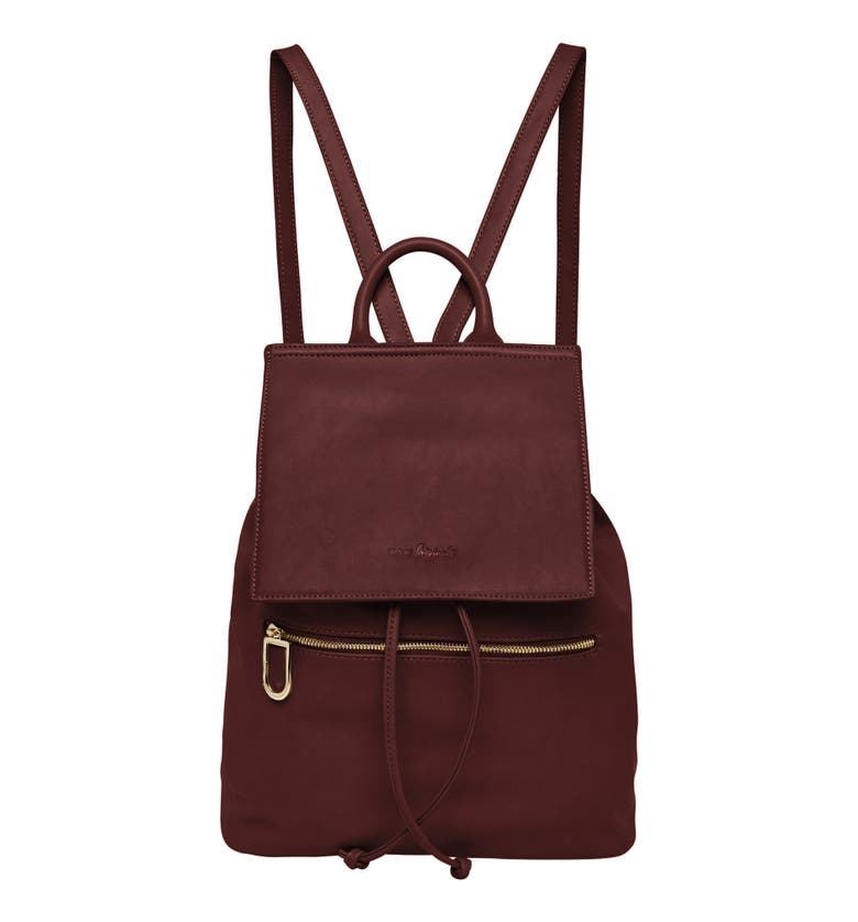 Urban Originals VEGAN LEATHER HIDE AND SEEK BACKPACK - BURGUNDY
