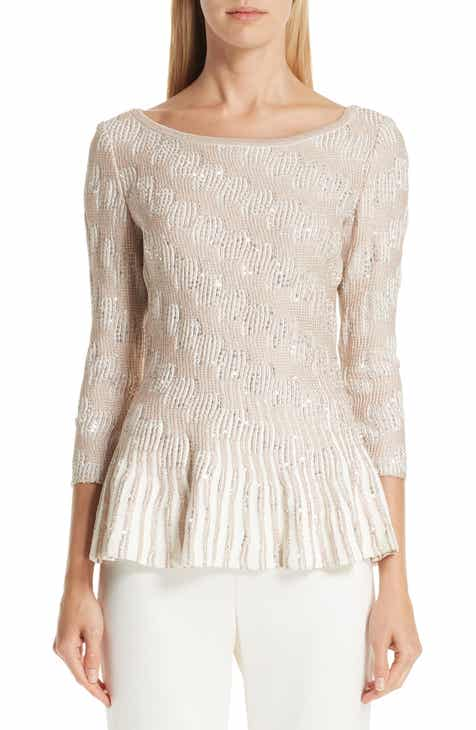 St. John Collection Sequin Trellis Knit Top by ST. JOHN COLLECTION