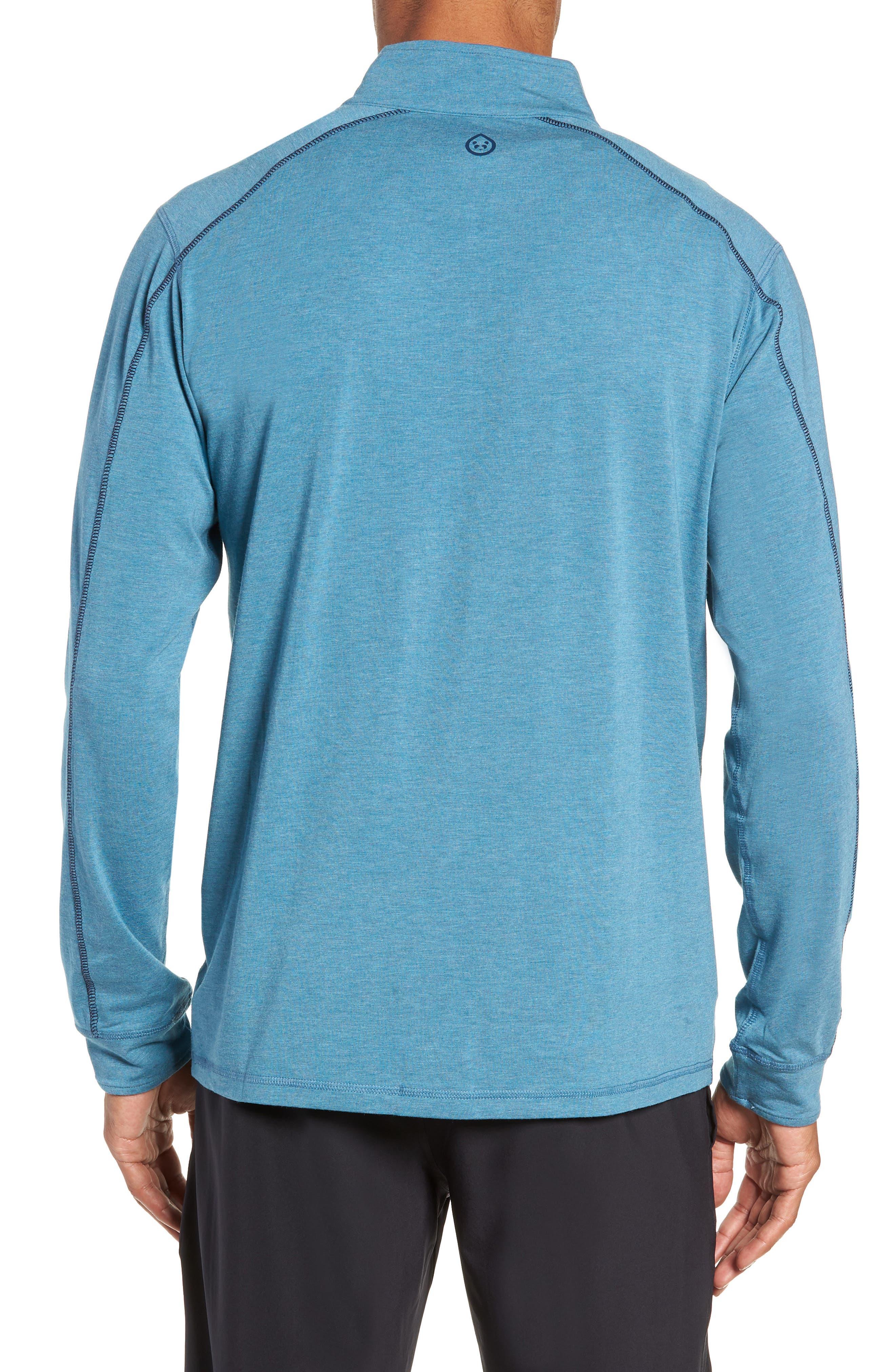 Carrollton Quarter Zip Sweatshirt,                             Alternate thumbnail 2, color,                             Tranquility Sea Heather